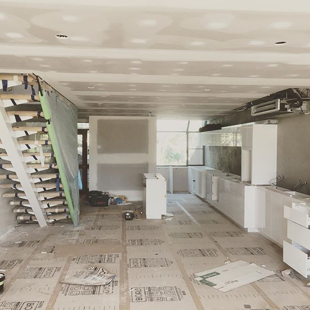 Project for lighthouse rd interior coming along nicely thanks to some great building work by Ryan Trenholme #byronbayinteriors #byronbaykitchendesigner#byronbayhomedesign#borrelldesignaustralia #byronbayhomedesign