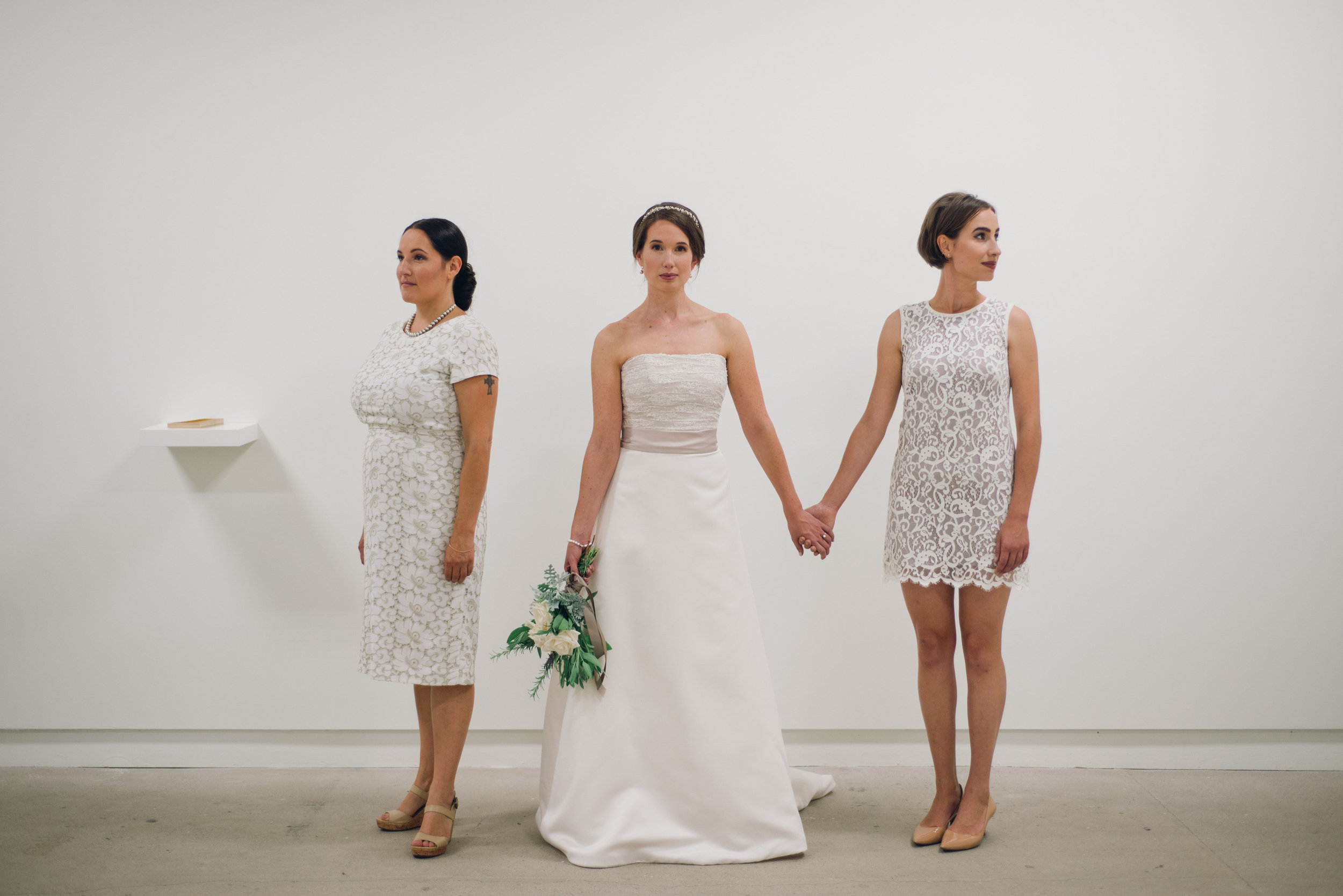 This minimalist bridal party that made this art gallery look good!