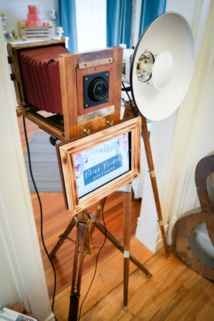 Vintage Photo Booth Rental at  Bliss Bridal Boutiques