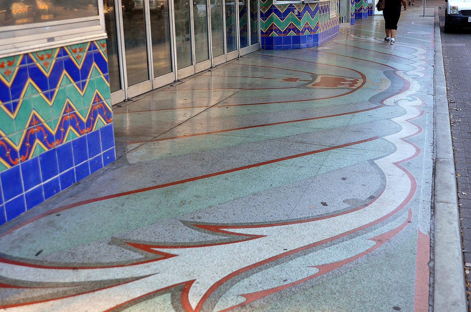 Sidewalk Terrazzo San Antonio Gallery Historic Pavement