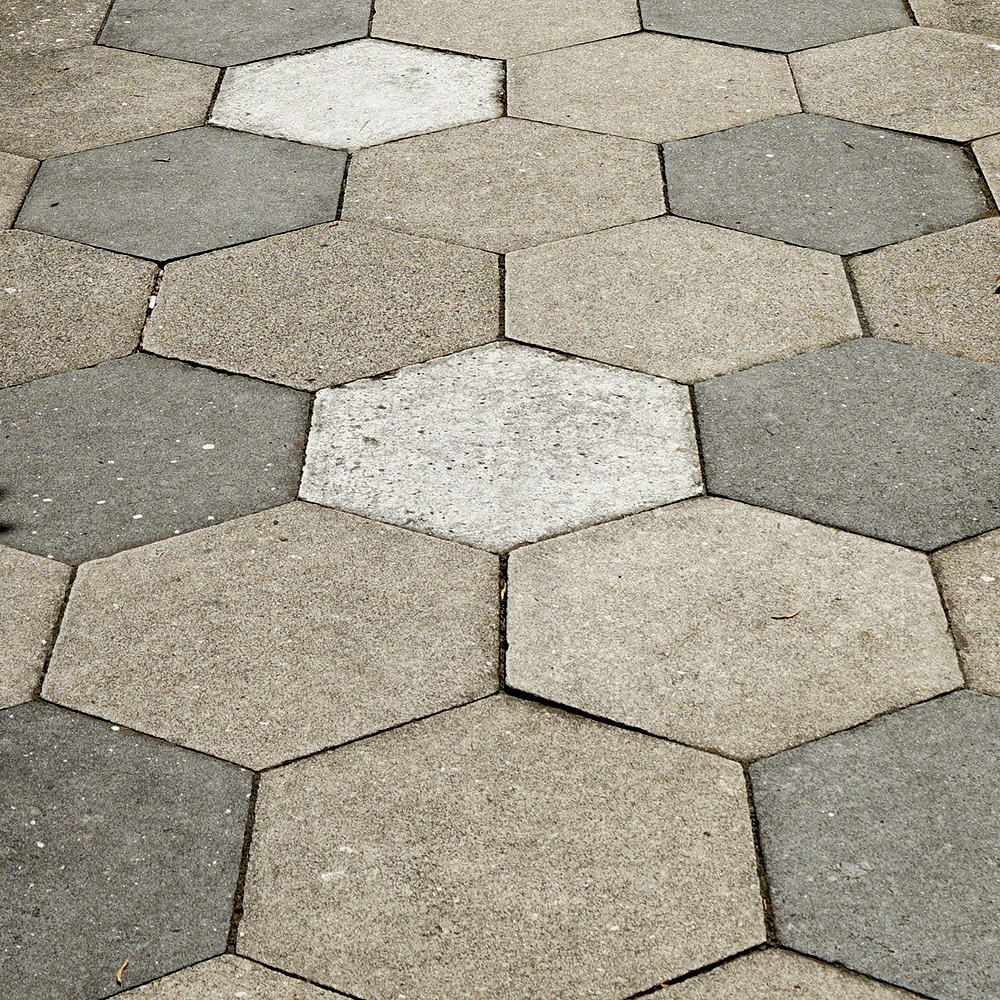 Hexagonal Concrete Pavers