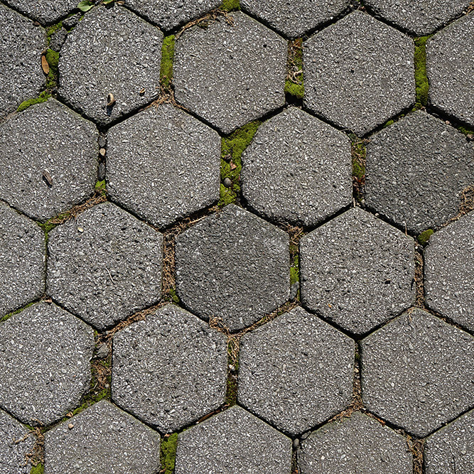 Hexagonal Asphalt Pavers