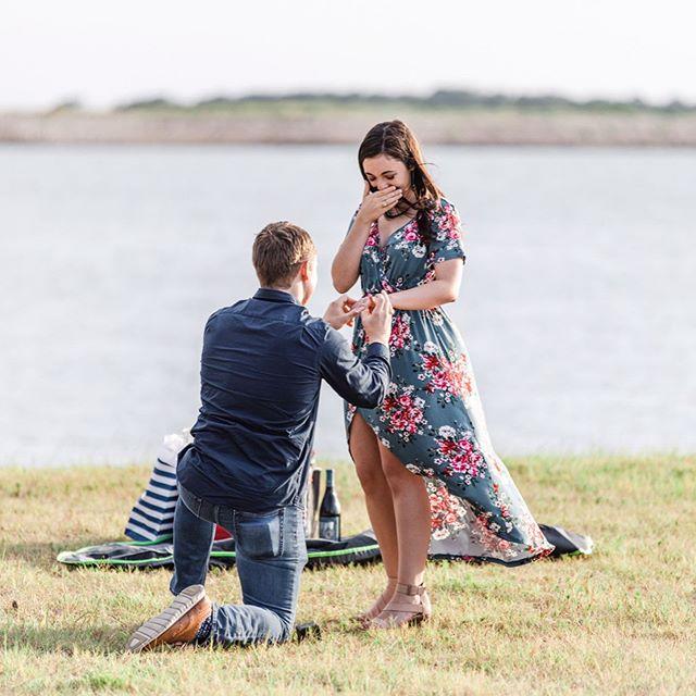 She said YES! 😍  Congratulations to Patrick + Amanda!