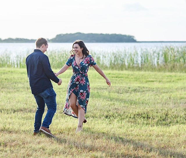 One of my favorites from Amanda + Patrick's proposal at the lake!