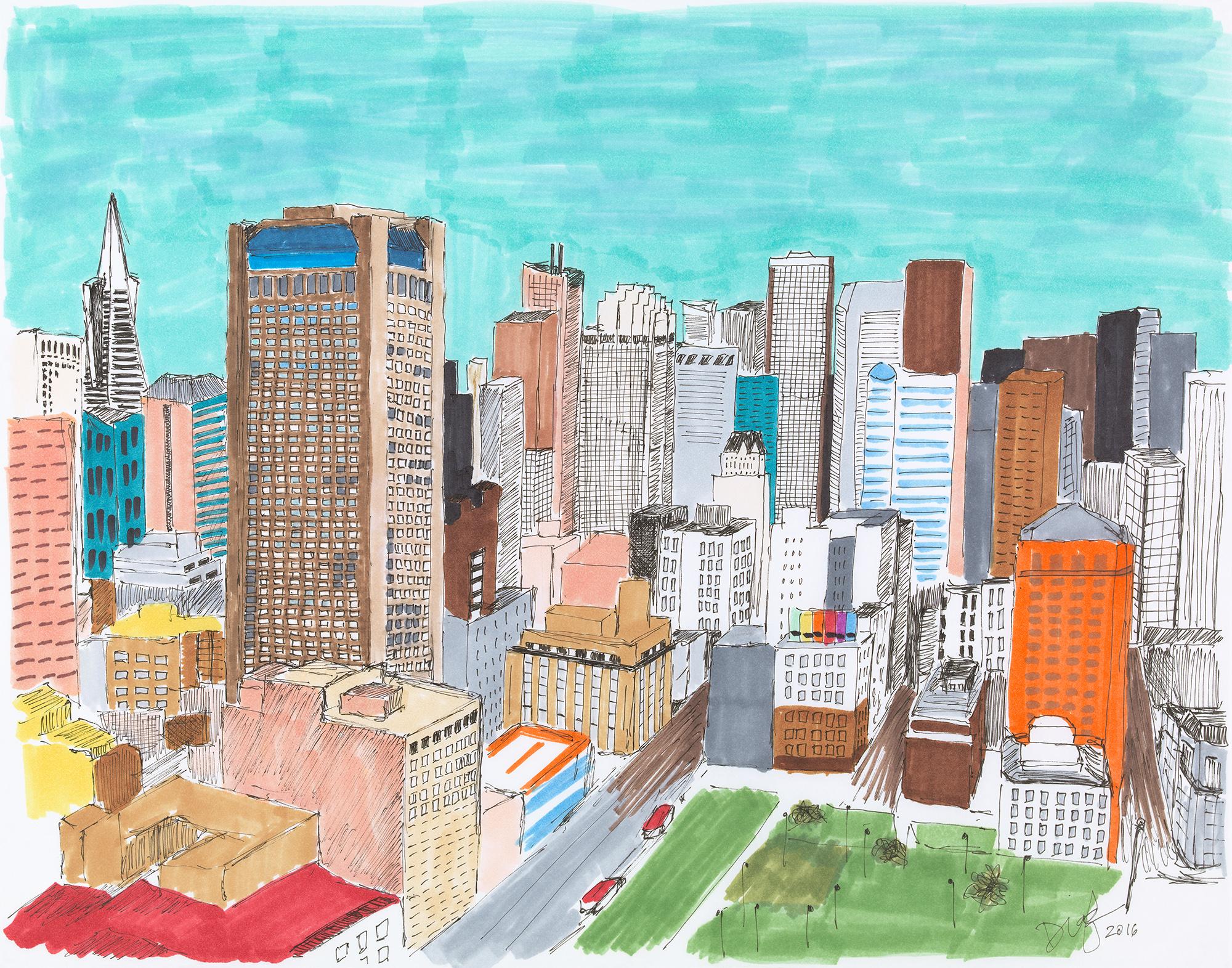 SF Downtown Skyline