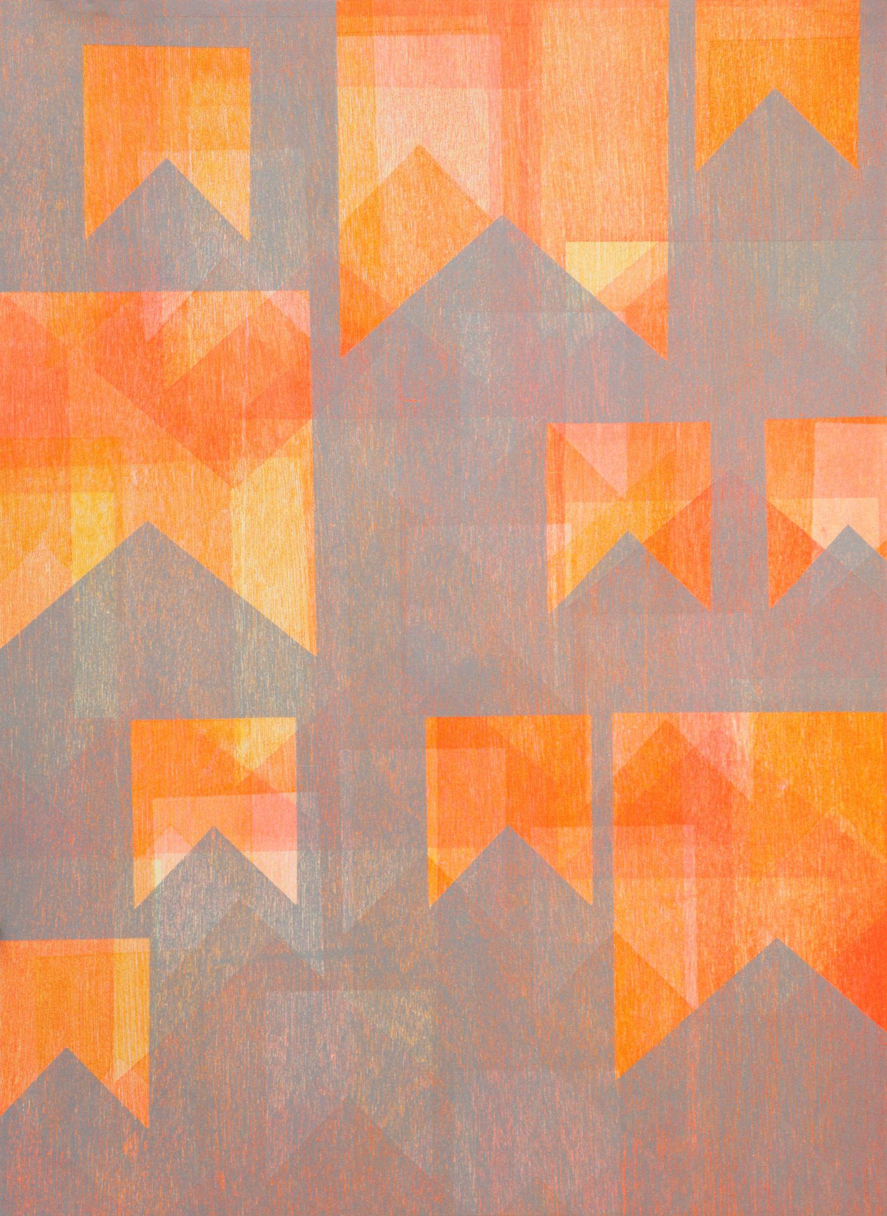"""Marina Ancona   """"Untitled"""" 2014. Monotype. 22 x 30"""""""