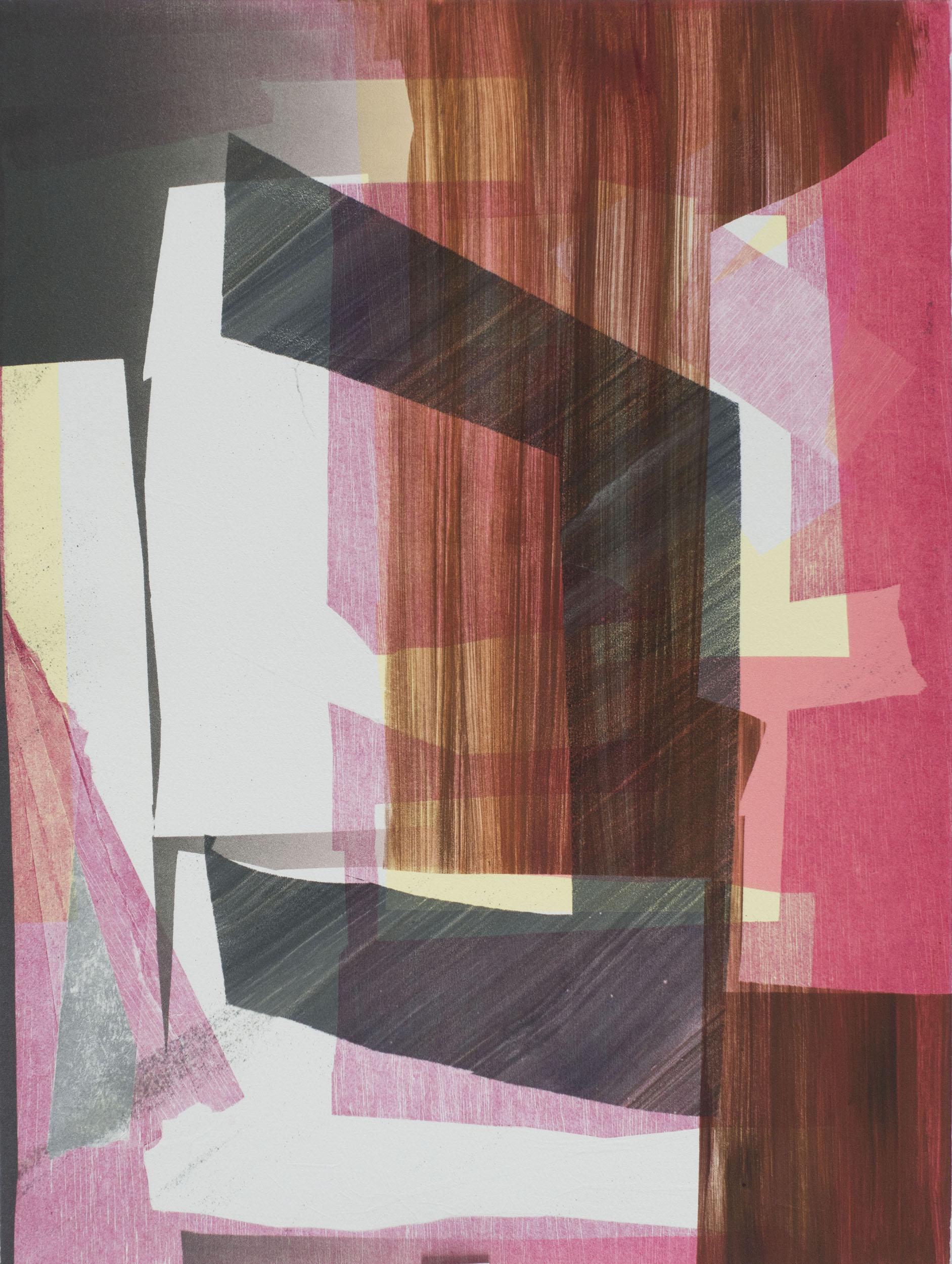 "Sigrid Sandström   ""Untitled""Monotype. 17.5 x 23"""