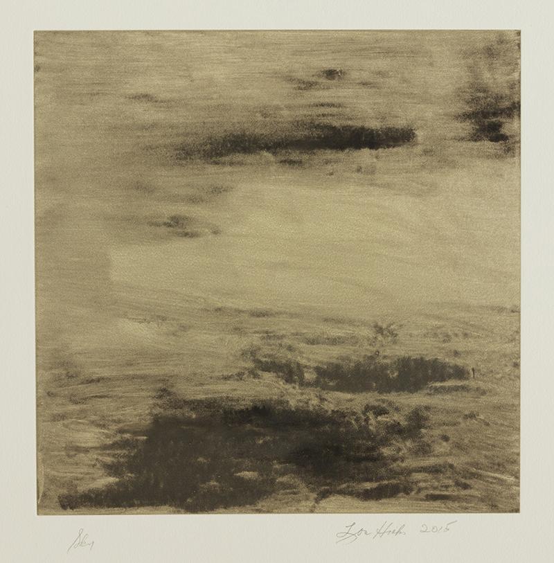 "Lou Hicks   ""Sky"" 2015.Monotype. 20 x 20"""