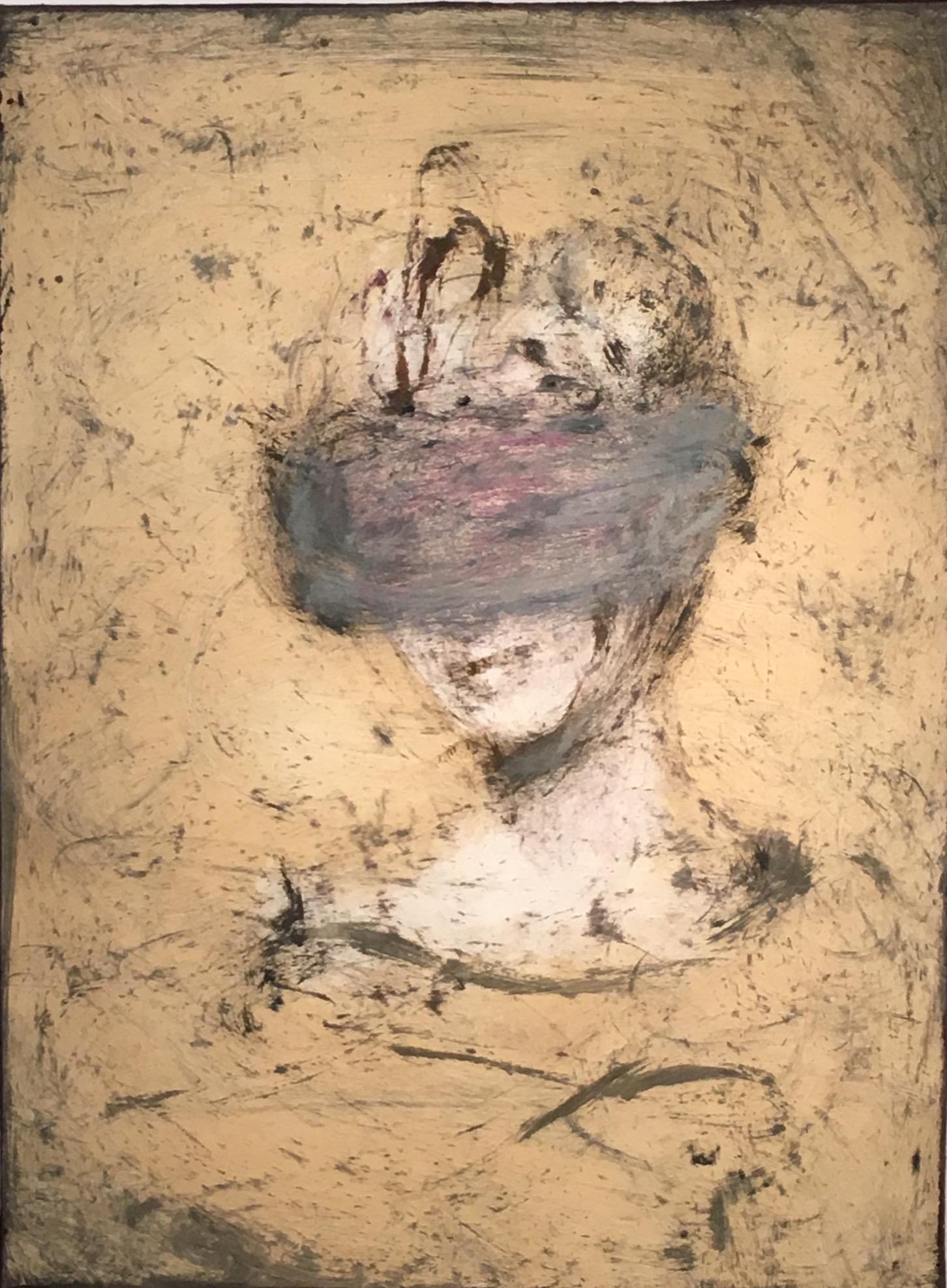 "Kathleen Morris   ""Aura"".Monotype. 30 x 44"""