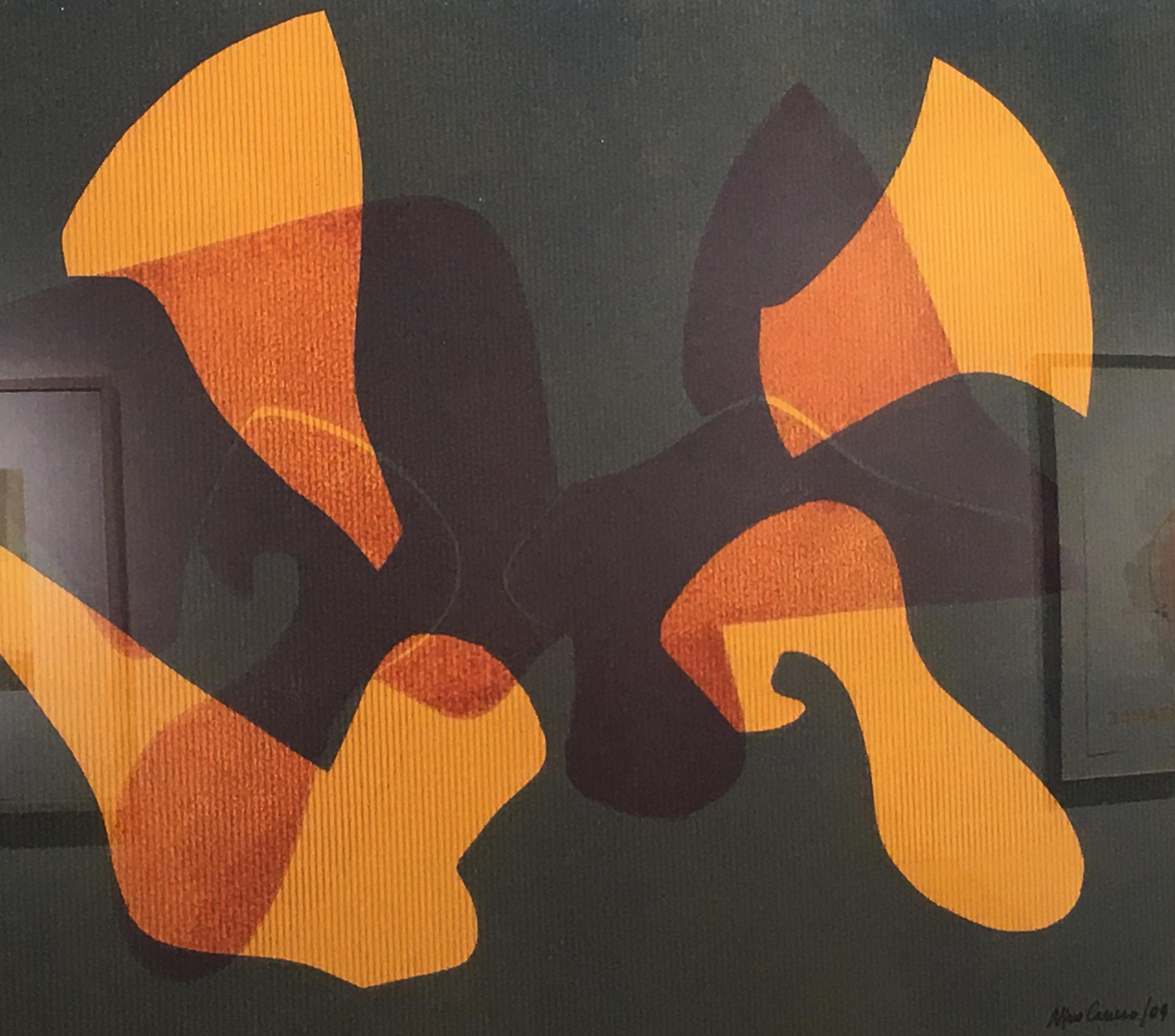 "Nino Caruso   ""Untitled"" 2009.Monotype. 22 x 30"""
