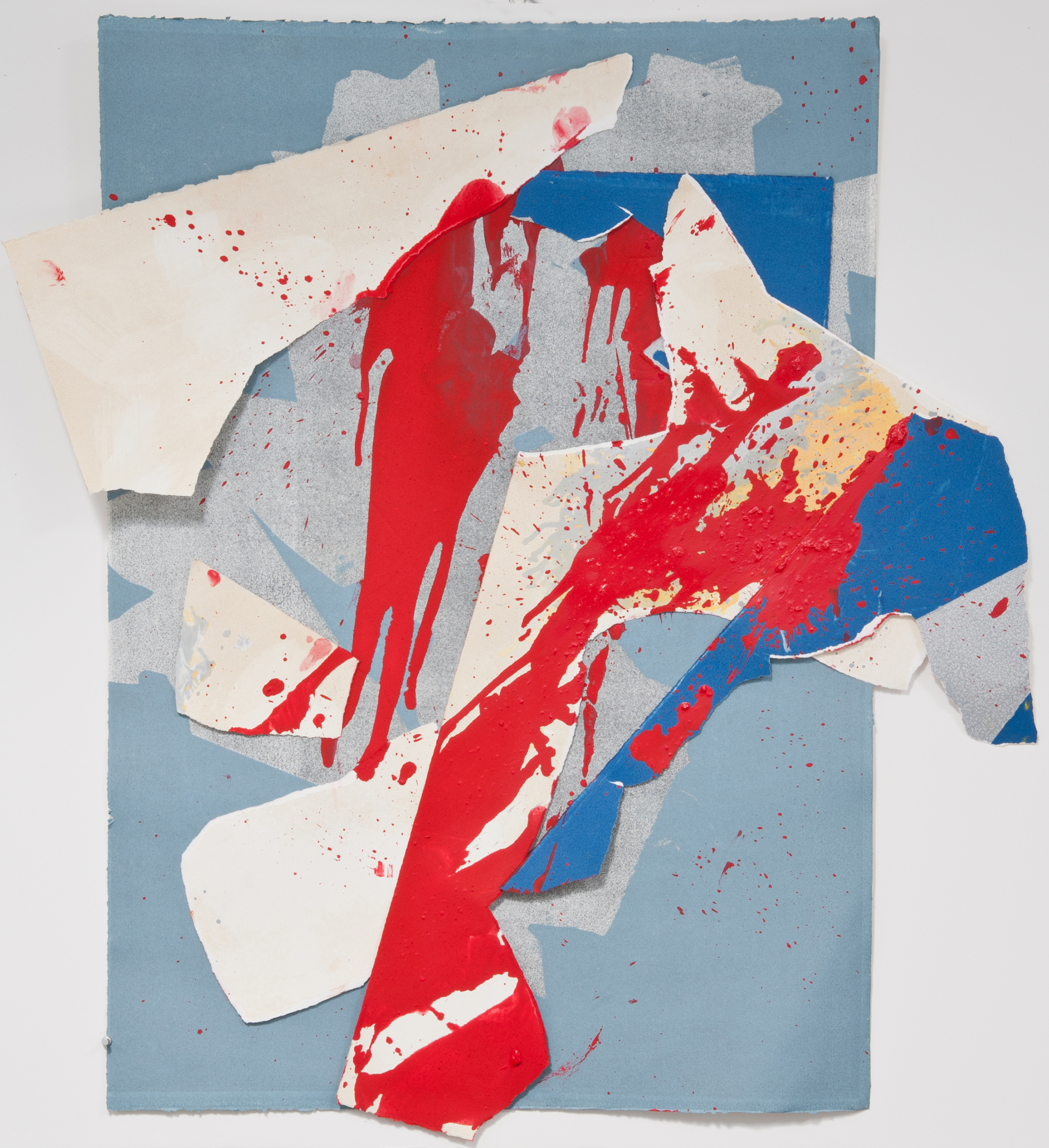 """Kay Harvey   """"About Ice Series 4"""" 2013. Collage, Oil on Paper. 45 x 40"""""""