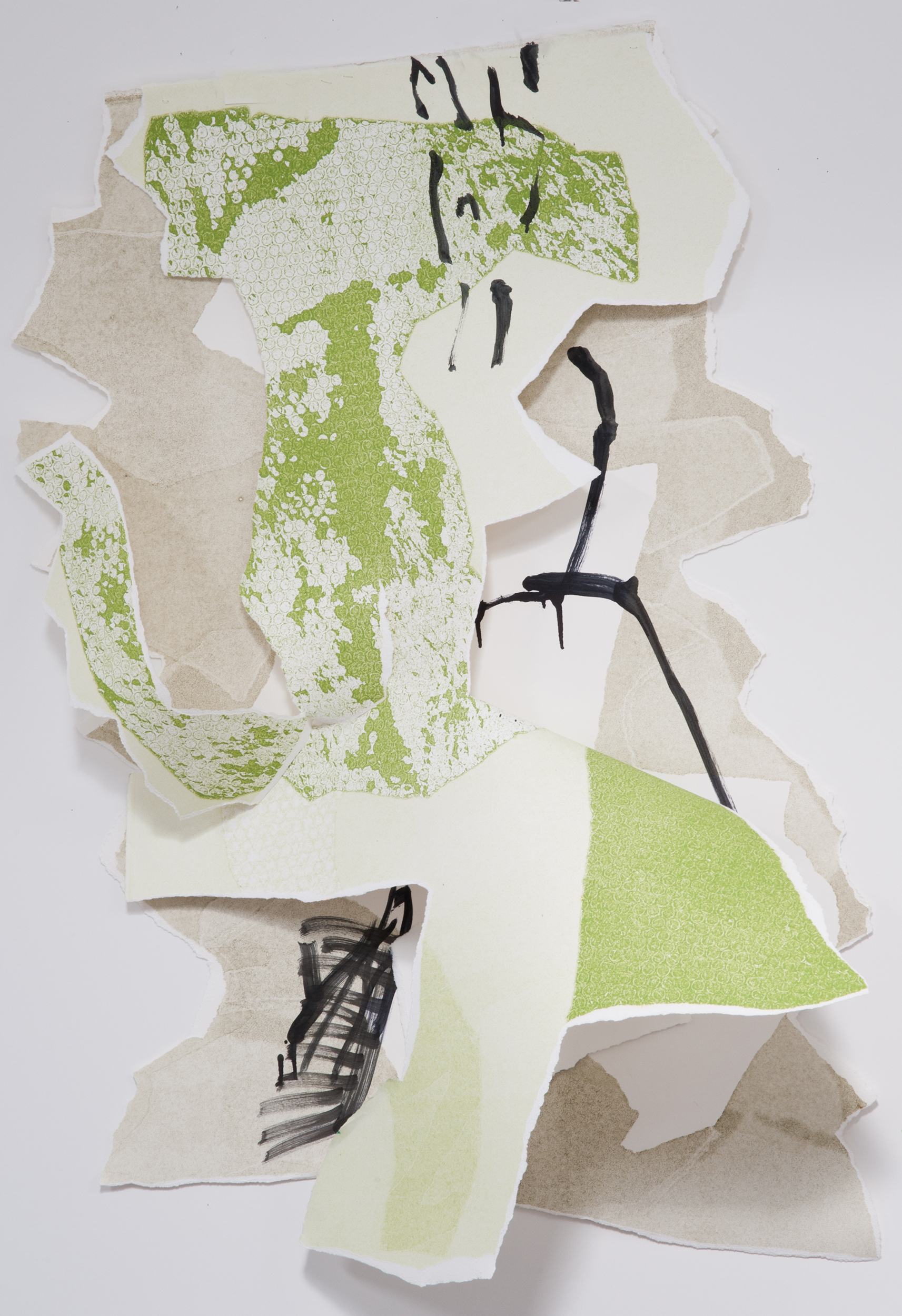"""Kay Harvey   """"About Ice Series 10"""" 2013. Collage, Oil on Paper. 44 x 34 x 9"""""""