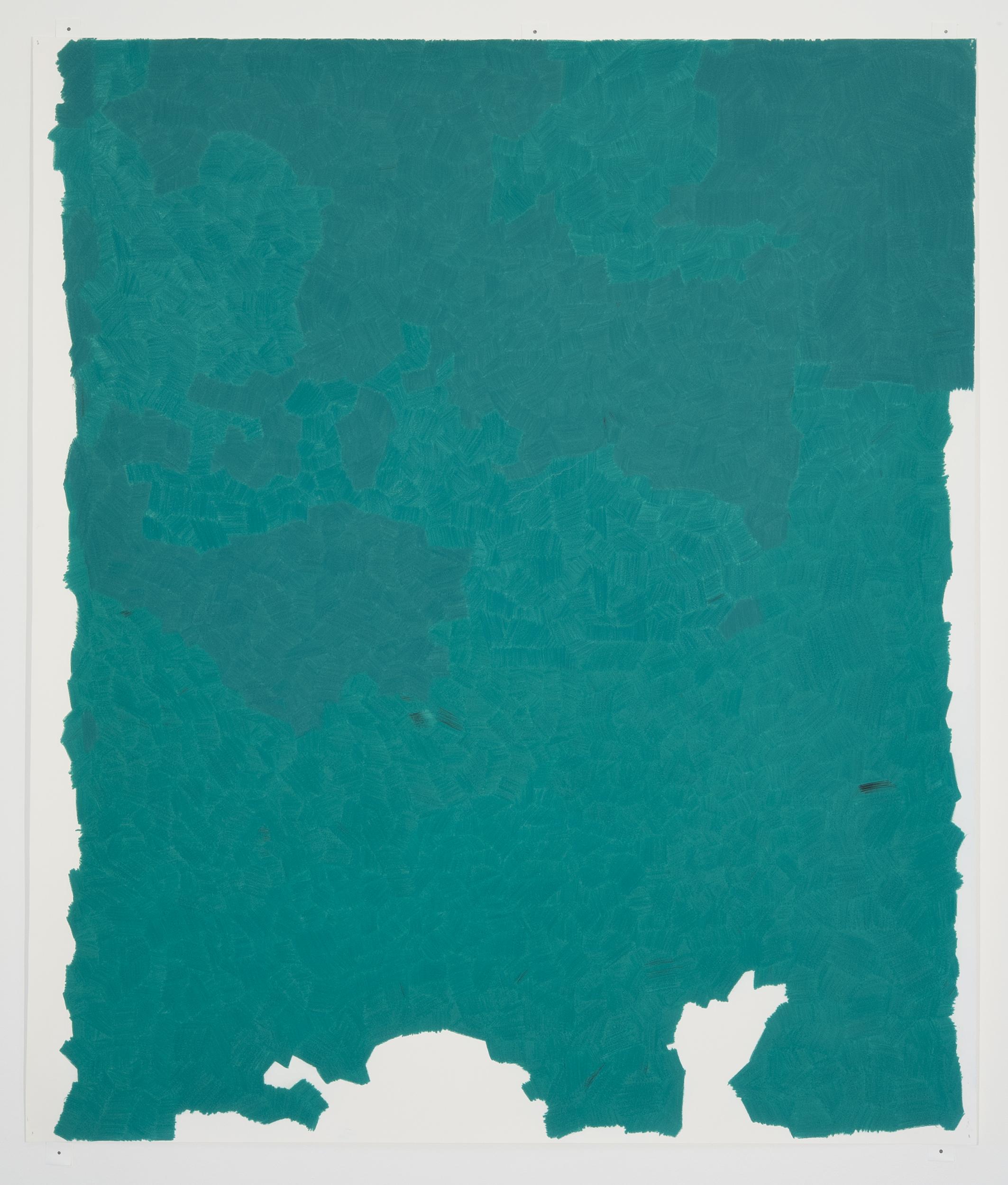 "Lucrecia Troncoso   ""Prismacolor Parrot Green PC1006"" 2012.Colored Pencil on Paper. 40 x 32"""