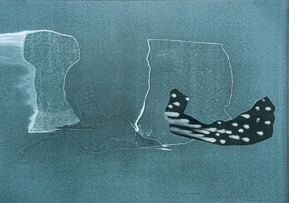 KayHarvey Withered Stumps of Time II, Iceberg Series I, 2008, 30.25 x 42.75 inches, monotype, Oil on Paper