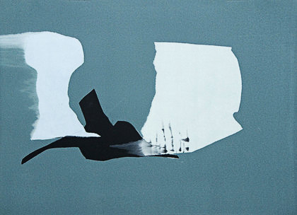 Kay Harvey Untitled, Iceberg Series I, 2008, 30.25 x 42.75 inches, Monotype, Oil on Paper
