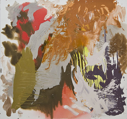 KayHarvey Bel Canto, Baroque Series, 2009, 68 x 72 inches, painting, Oil on Canvas