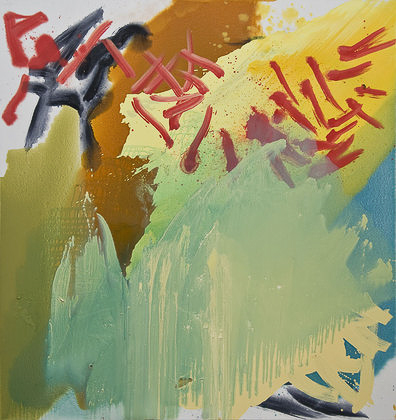 Kay Harvey Libretto, Baroque Series, 2009, 68 x 72 inches, painting, Oil on Canvas