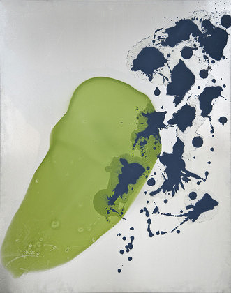 Kay Harvey Untitled 22, Works on Metal, 2008-2006, 59 x 47 inches, painting, Oil & Carborundum on Aluminum Sheets