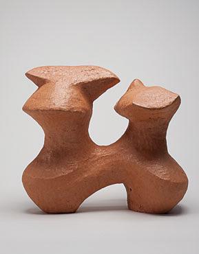 "Nino Caruso  Zoomourphous Shape , 2009, terra cotta, 16"" h x 19""w x 12'd"