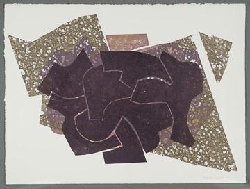 "Nino Caruso  Untitled (NM  # 4) , 2009, mono print, 22"" x 29.5"""