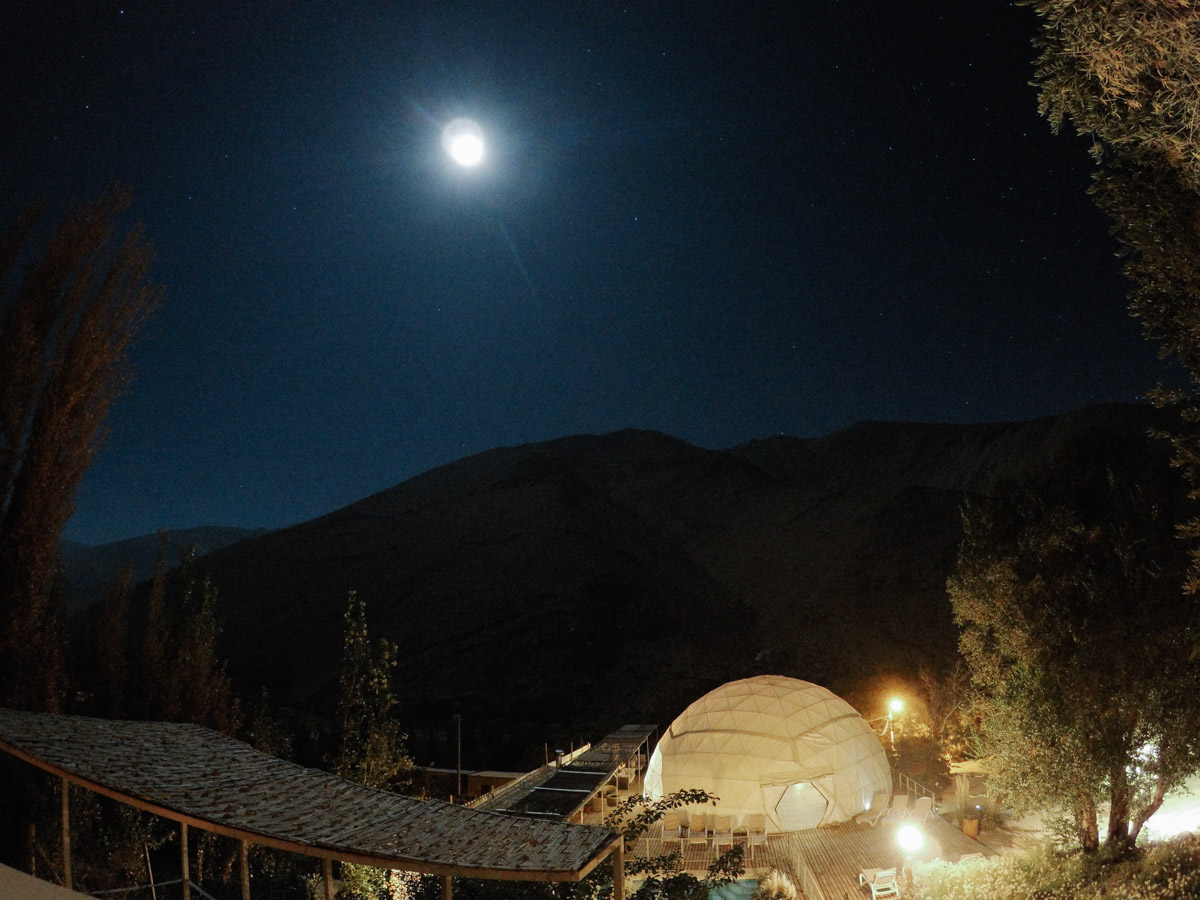 Our star viewing experience was dimmed by the full moon which lit up the valley and dimmed the stars.