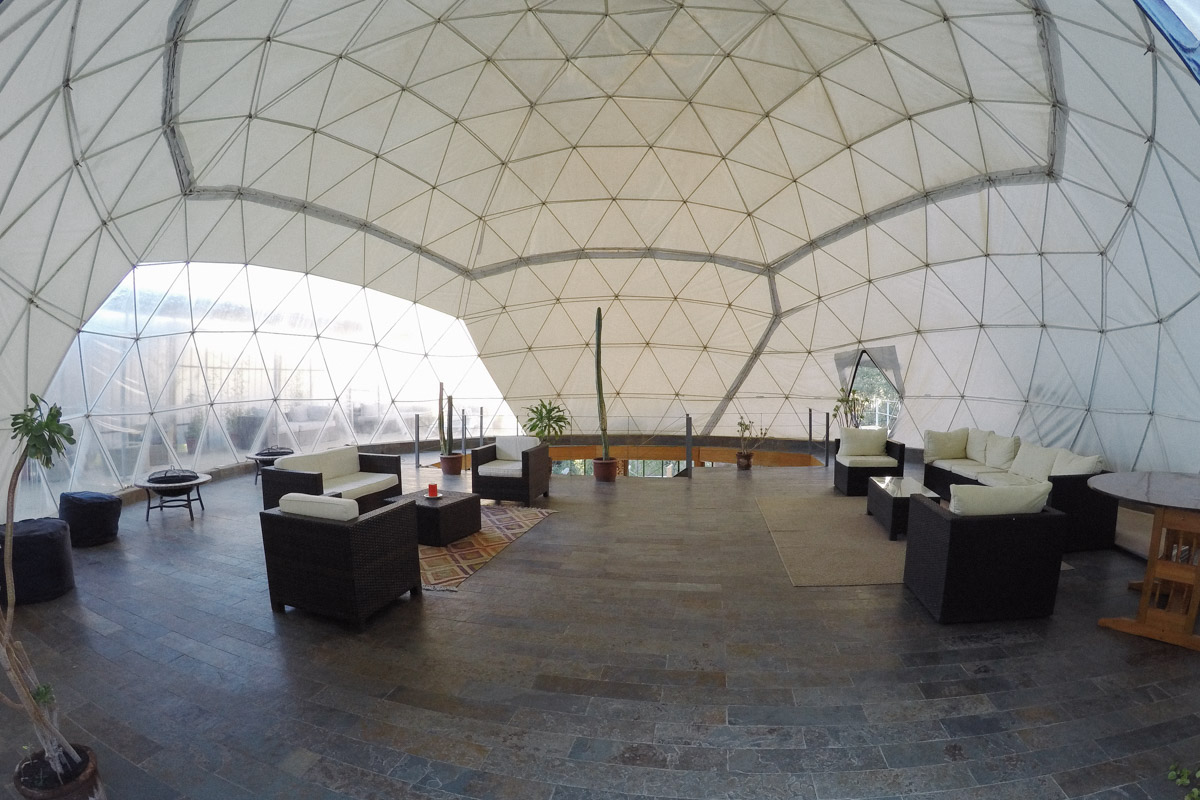 The reception and restaurant was downstairs in this 2 story dome.