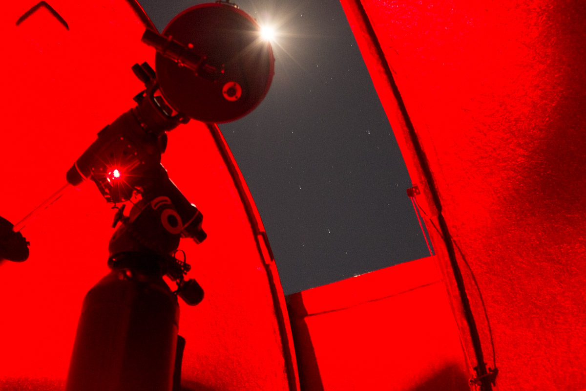 Crazy looking long exposure shot inside of the observatory where we got a tour of the galaxy through a high powered telescope.