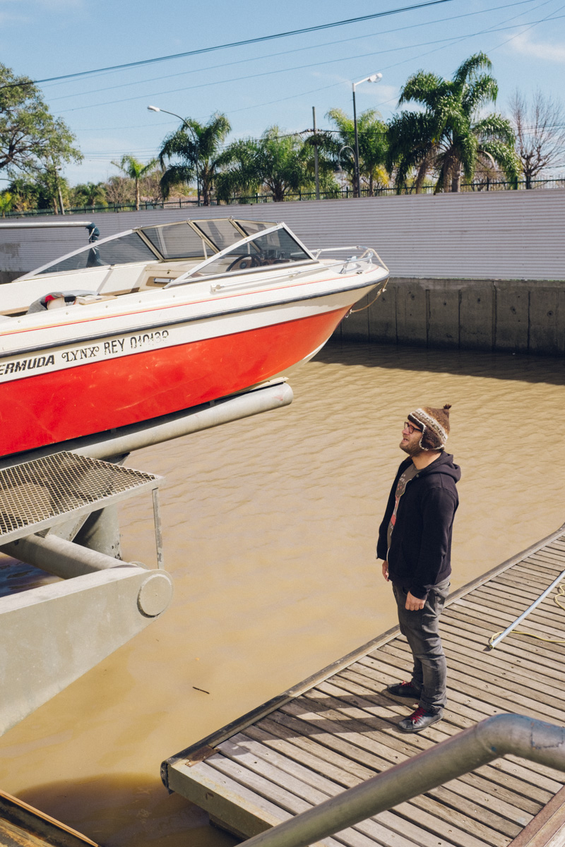 Martin reunited with his boat.