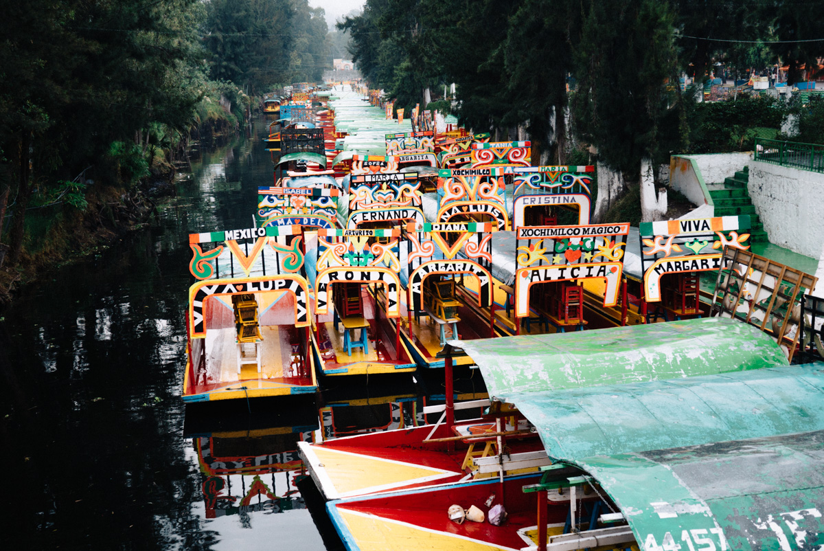 Xochimilco where we took a cruise through the canals while drinking michealadas, and tried out my newly purchased bootleg Simpsons masks.