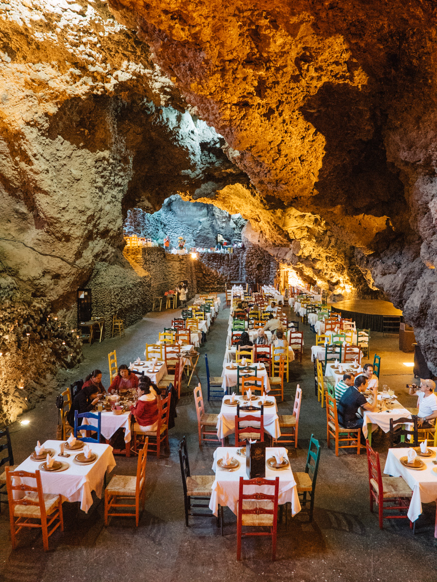 """We stopped for dinner at the restaurant called """"La Gruta"""" which means """"the cave"""". La Gruta is built within an open air cave in to the ground, and actually served really good authentic food for being such a tourist attraction."""