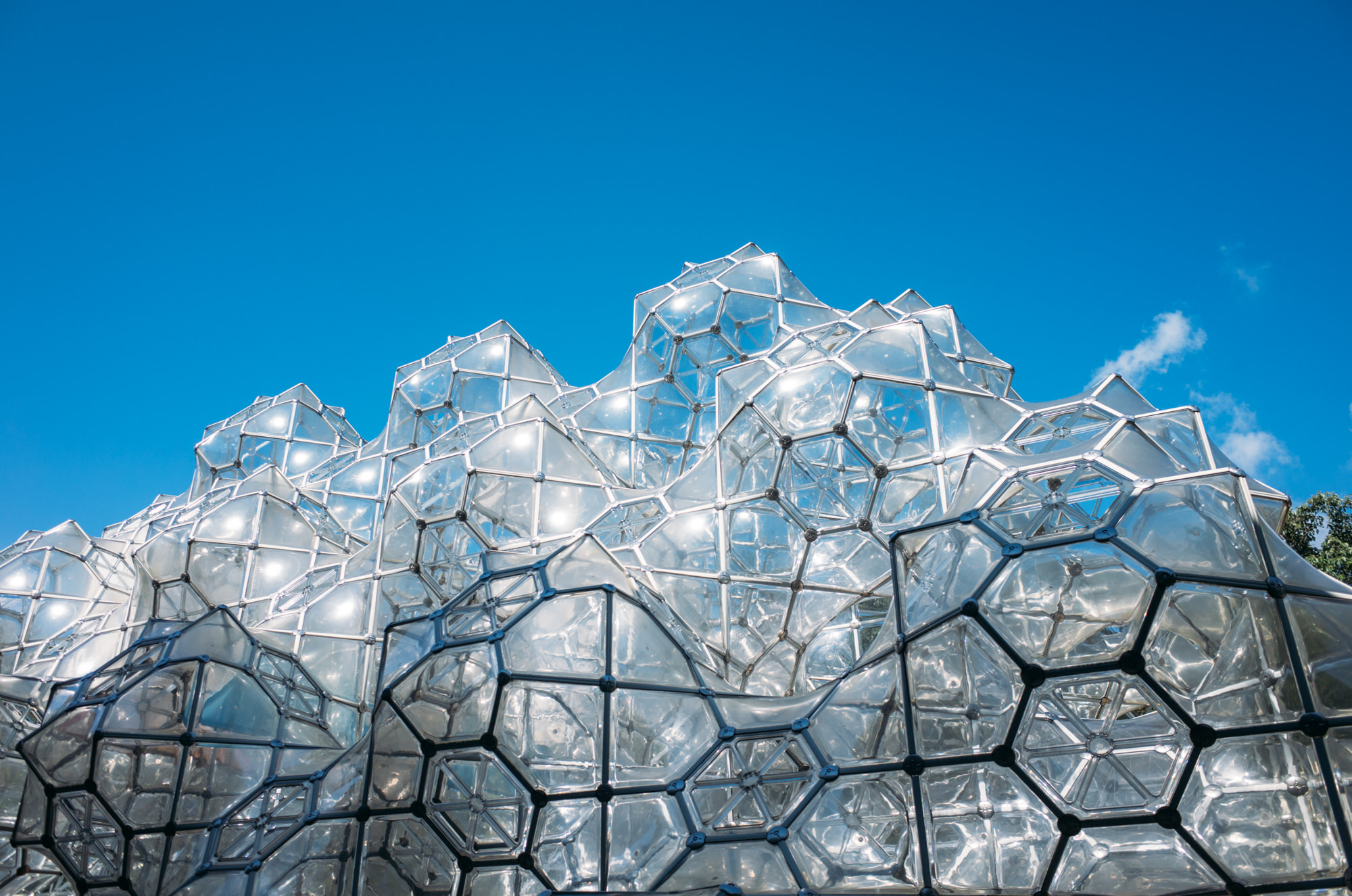 Curved Space Diamond Structure by Peter Pearce