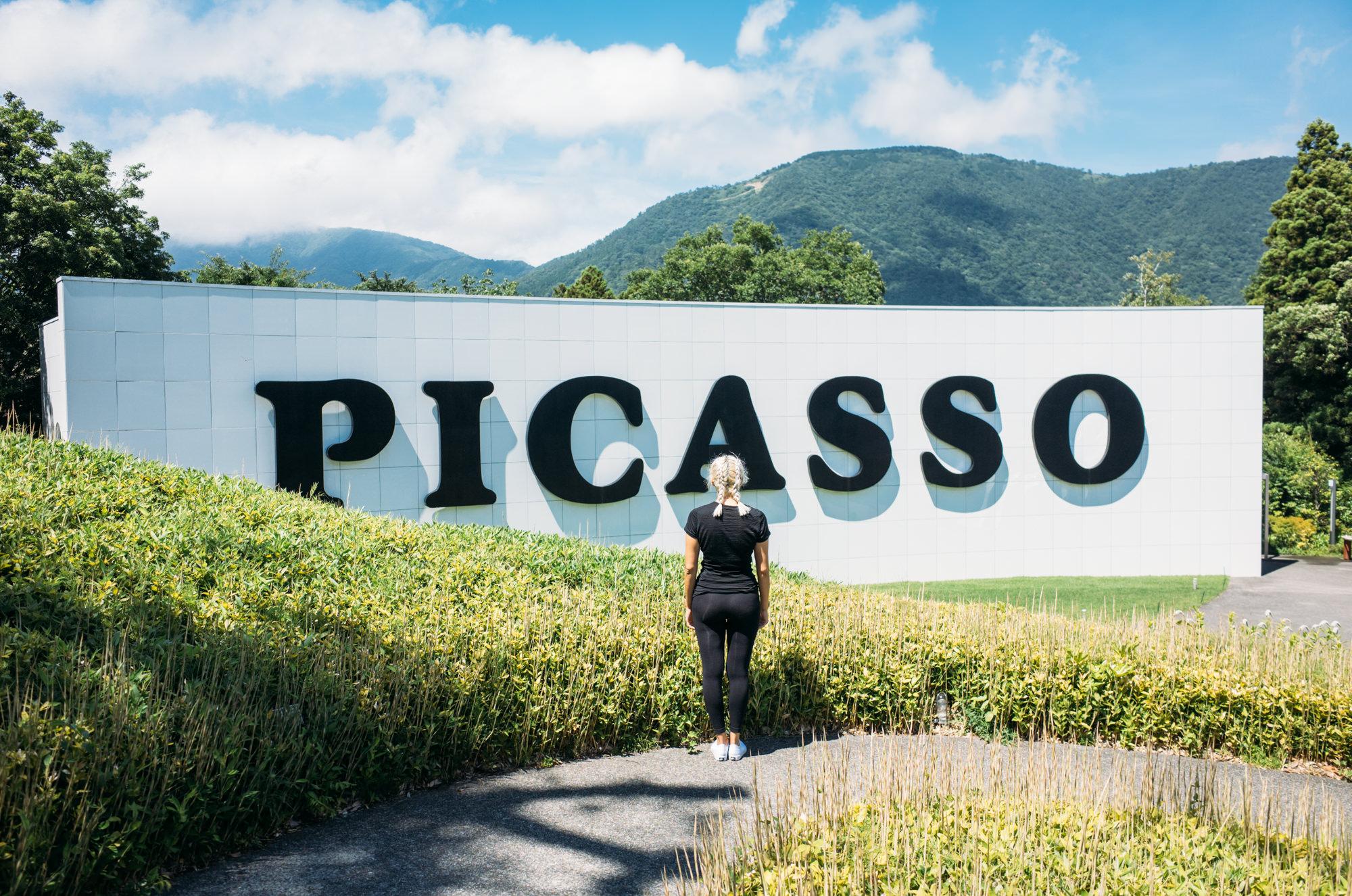 No photos allowed inside the very impressive Picasso Pavillion