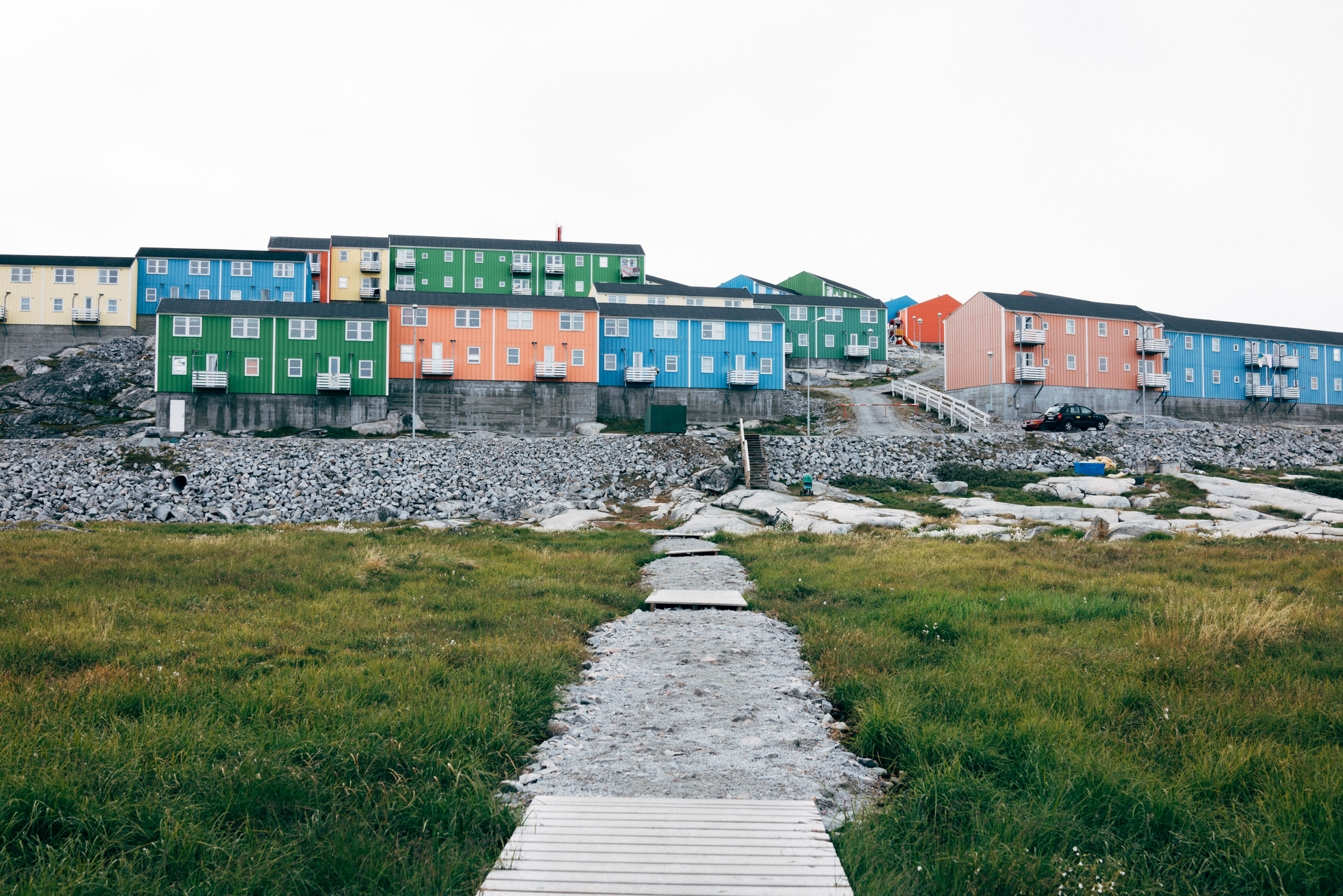 The apartments where we stayed on our arrival in Ilulissat.