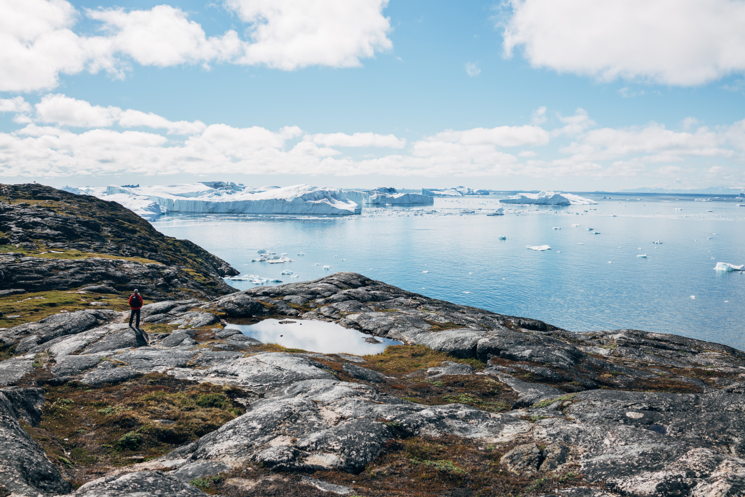 Hiking to Ilulissat's main attraction, the Icefiord