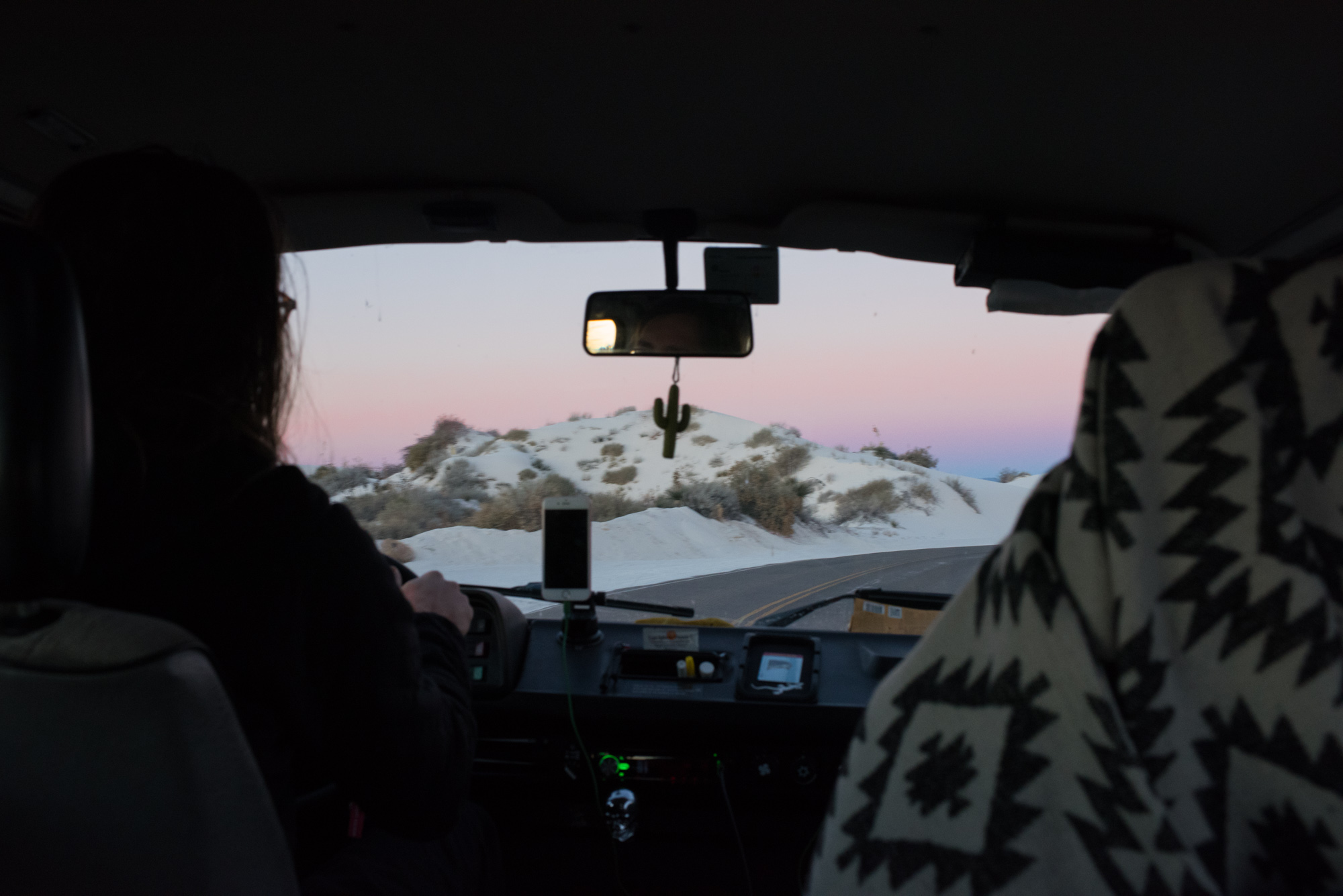 We left our free campsite in the dark in order to make it into White Sands for the 7am opening time and sunrise.