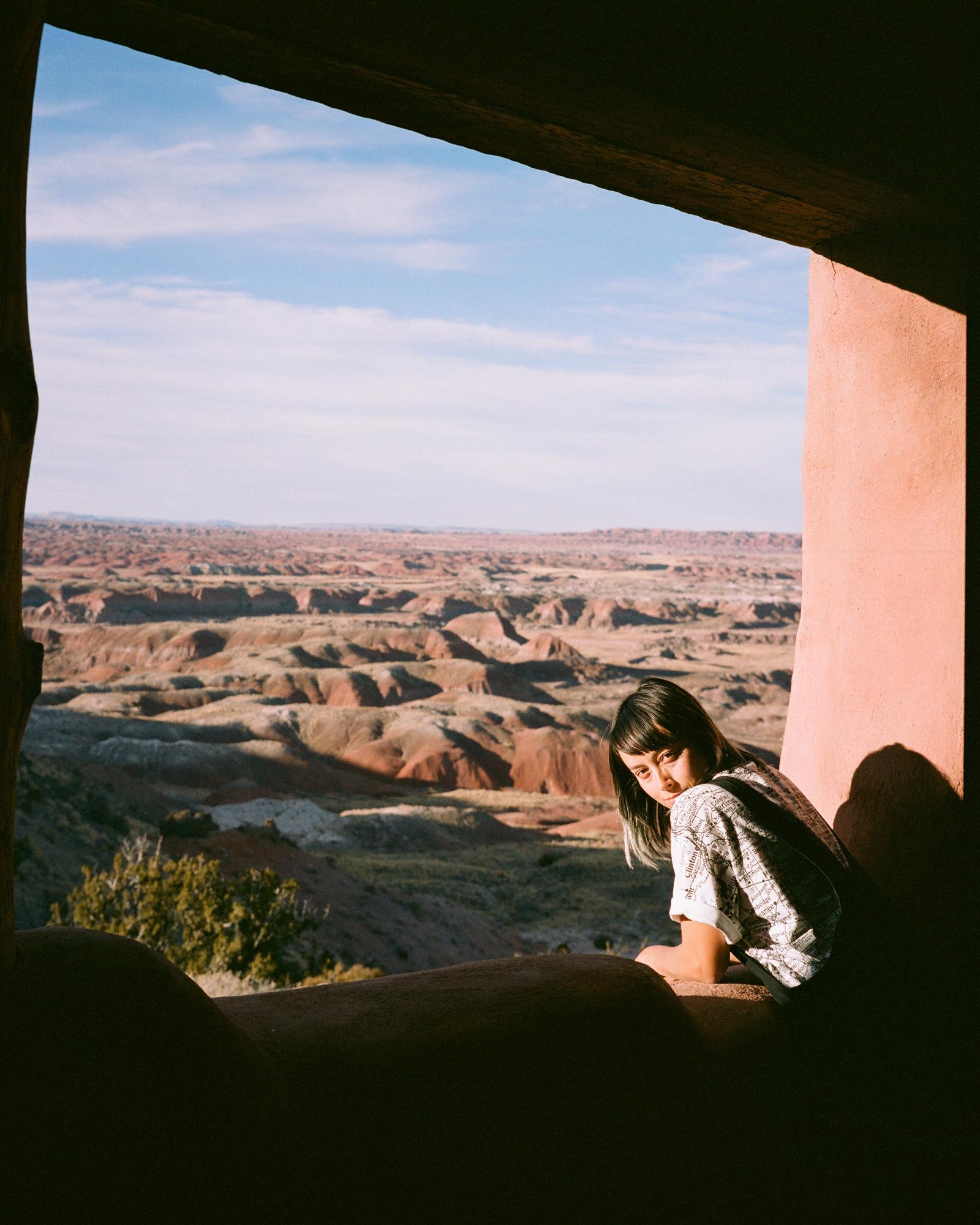 Overlooking the Painted Desert from the historic Painted Desert Inn.