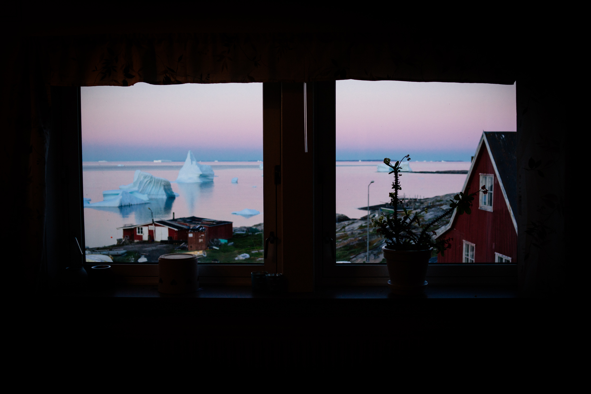 The most ethereal view I've witnessed in all of my travels, framed by the living room window of our Airbnb.