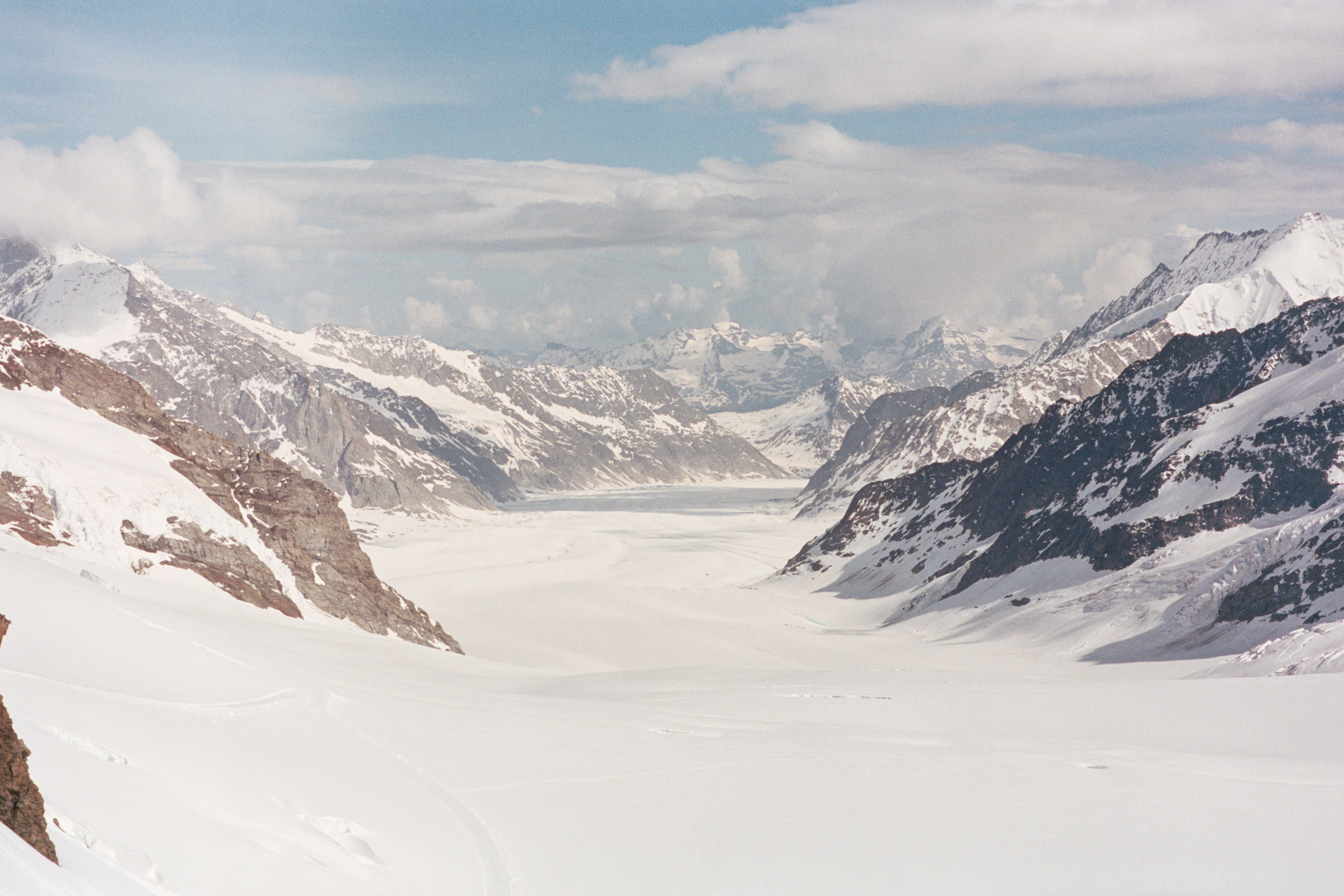 A clearer view of Aletsch Glacier, seen much later in the day