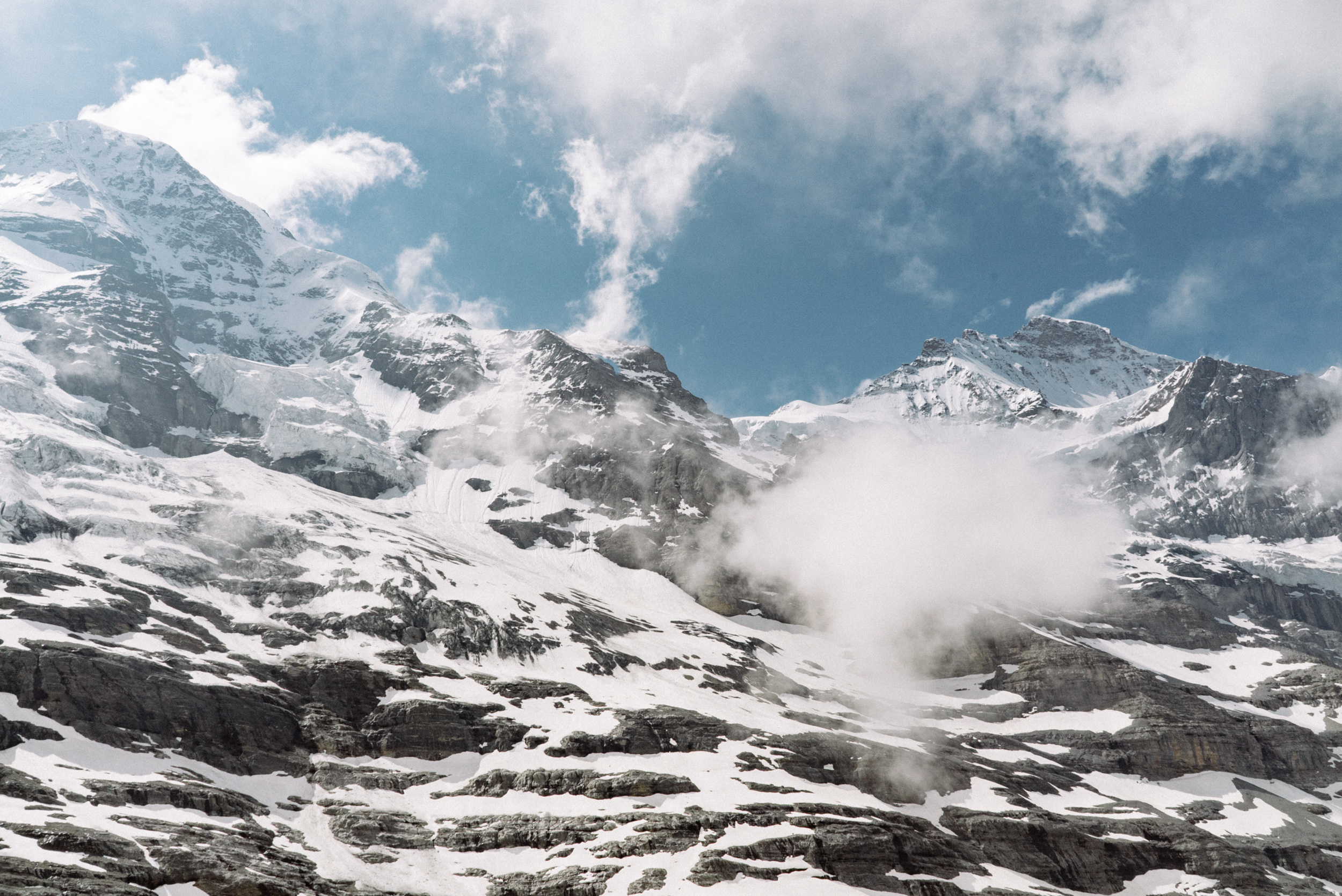 The mountain view as we ascend to Jungfraujoch