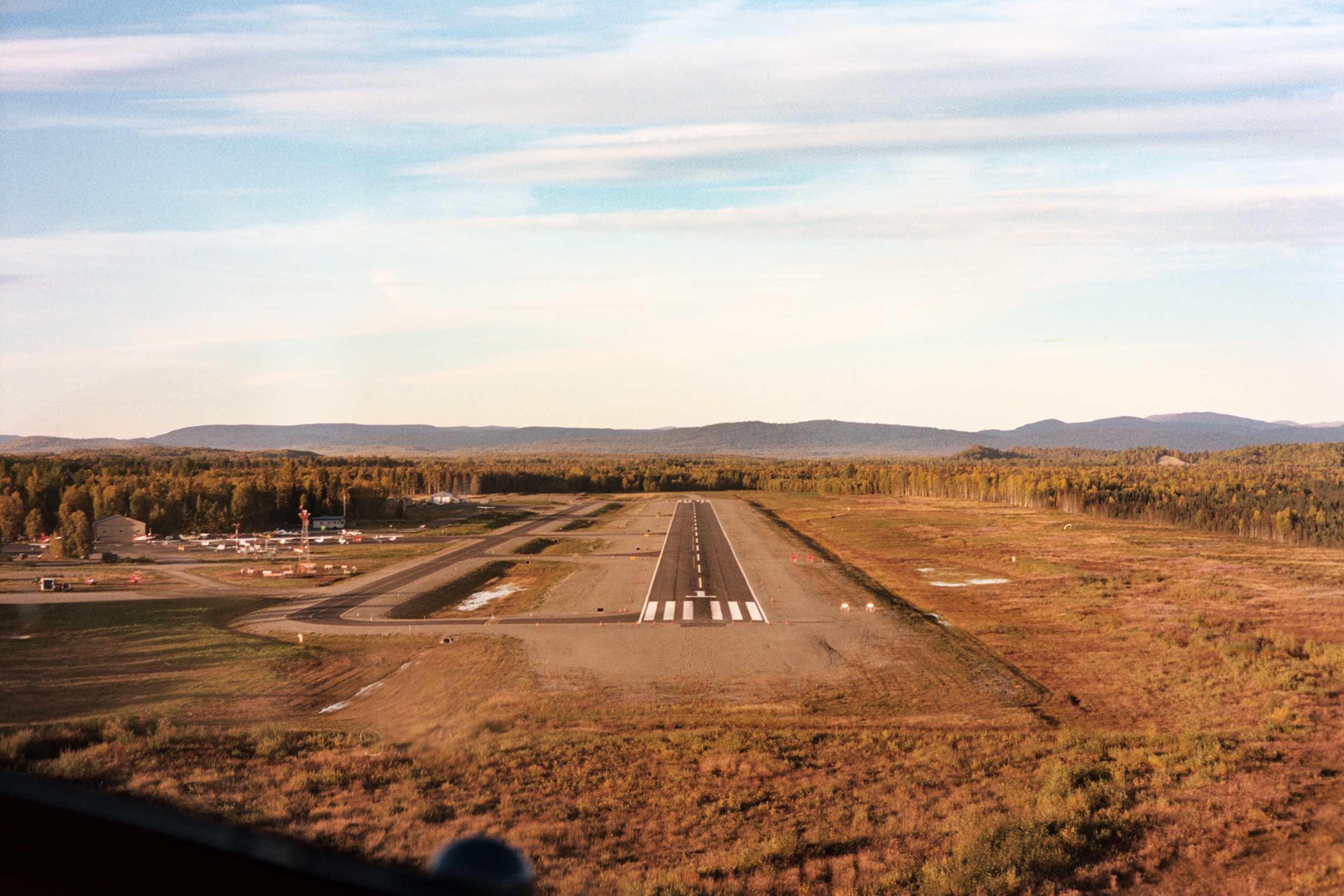 Landing on the runway back in Talkeetna after a beautiful, smooth flight!