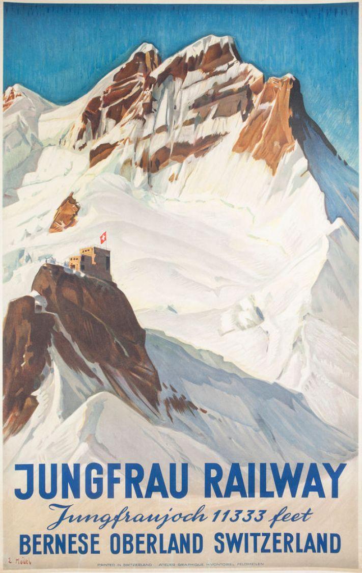 Vintage Jungfrau Railway poster