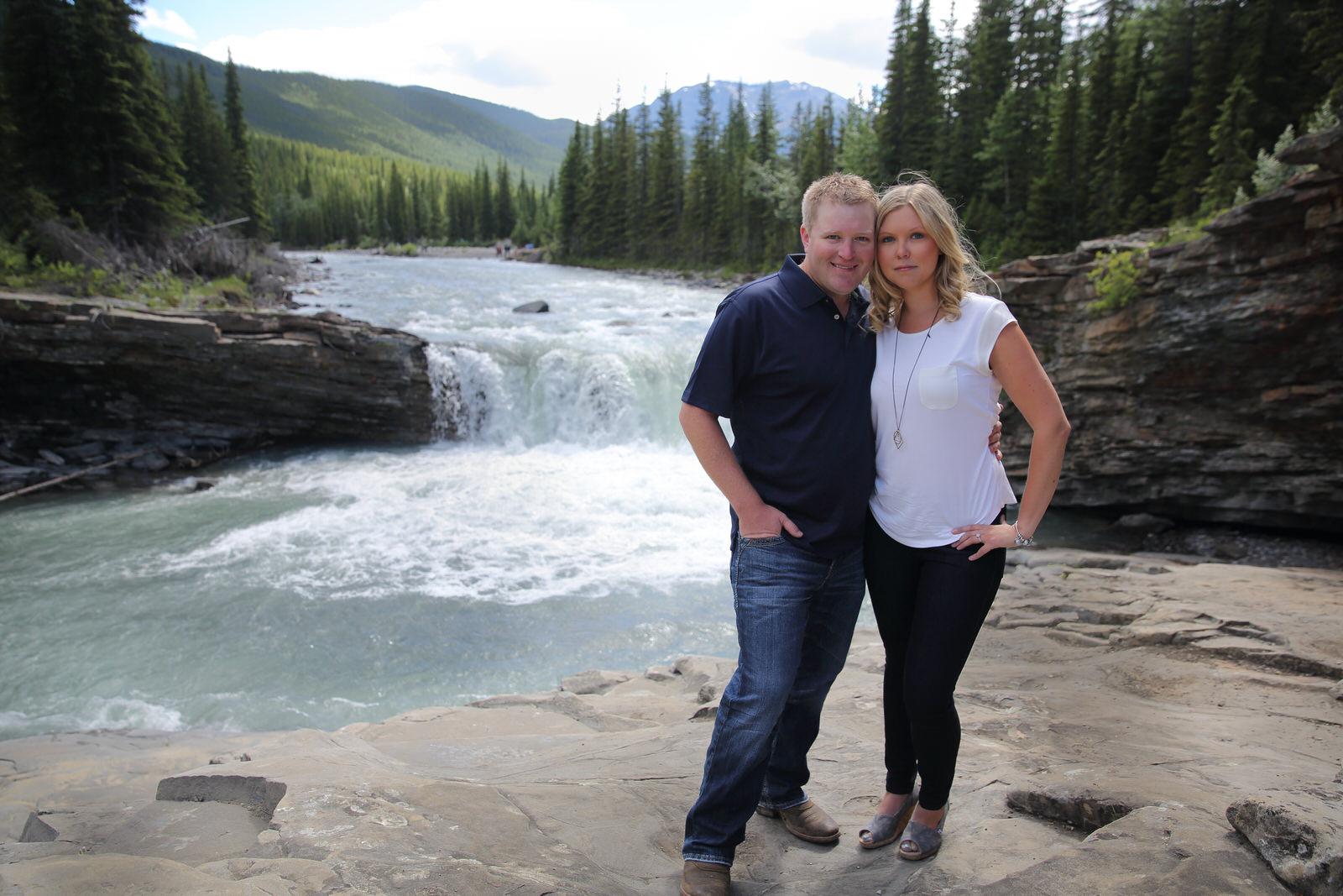 Engagement Photos Sheep River Falls