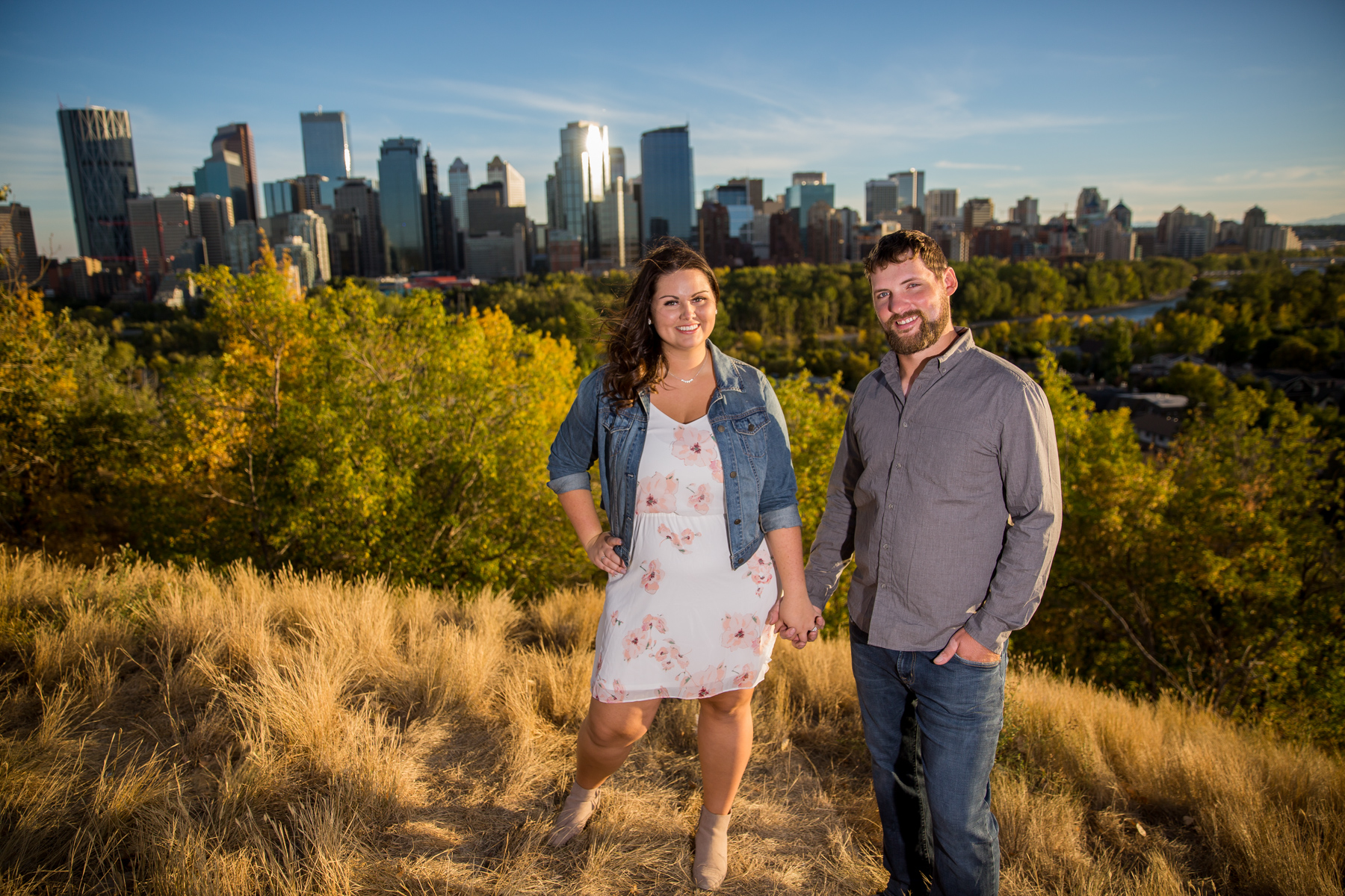 Calgary Engagement Photos downtown