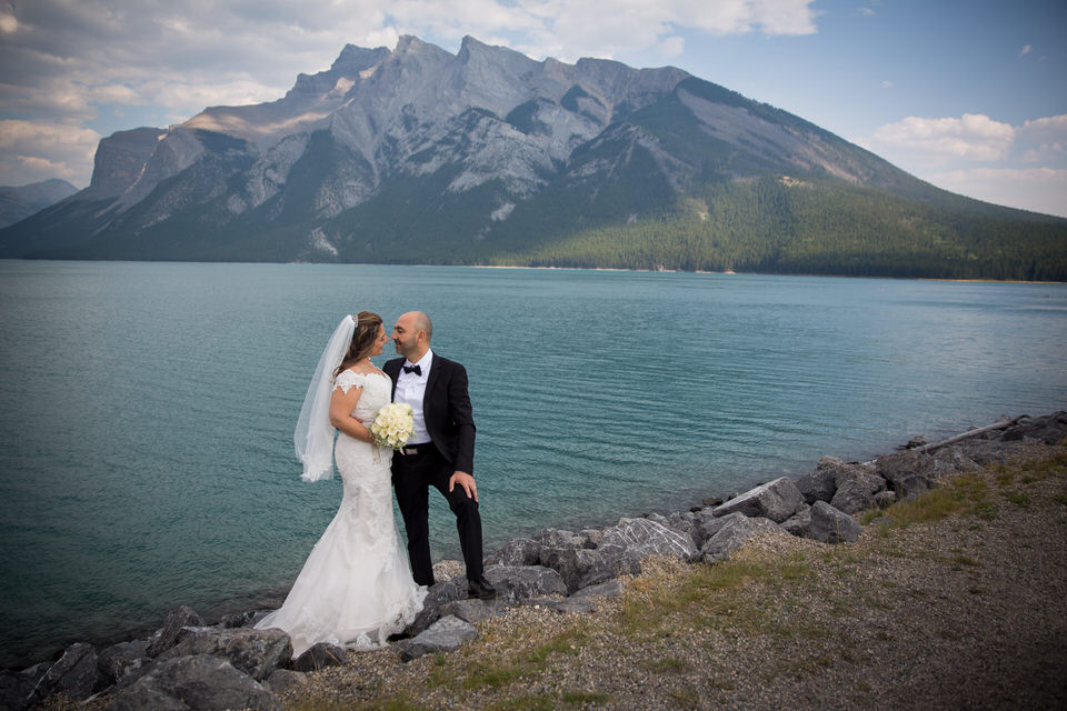 Wedding Lake Minnewanka