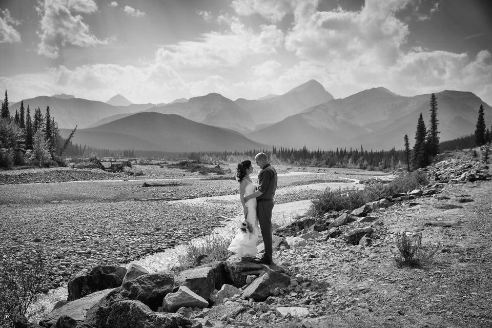 Photo of Bragg Creek Wedding, then we drove to Kananaskis to take more wedding photos.