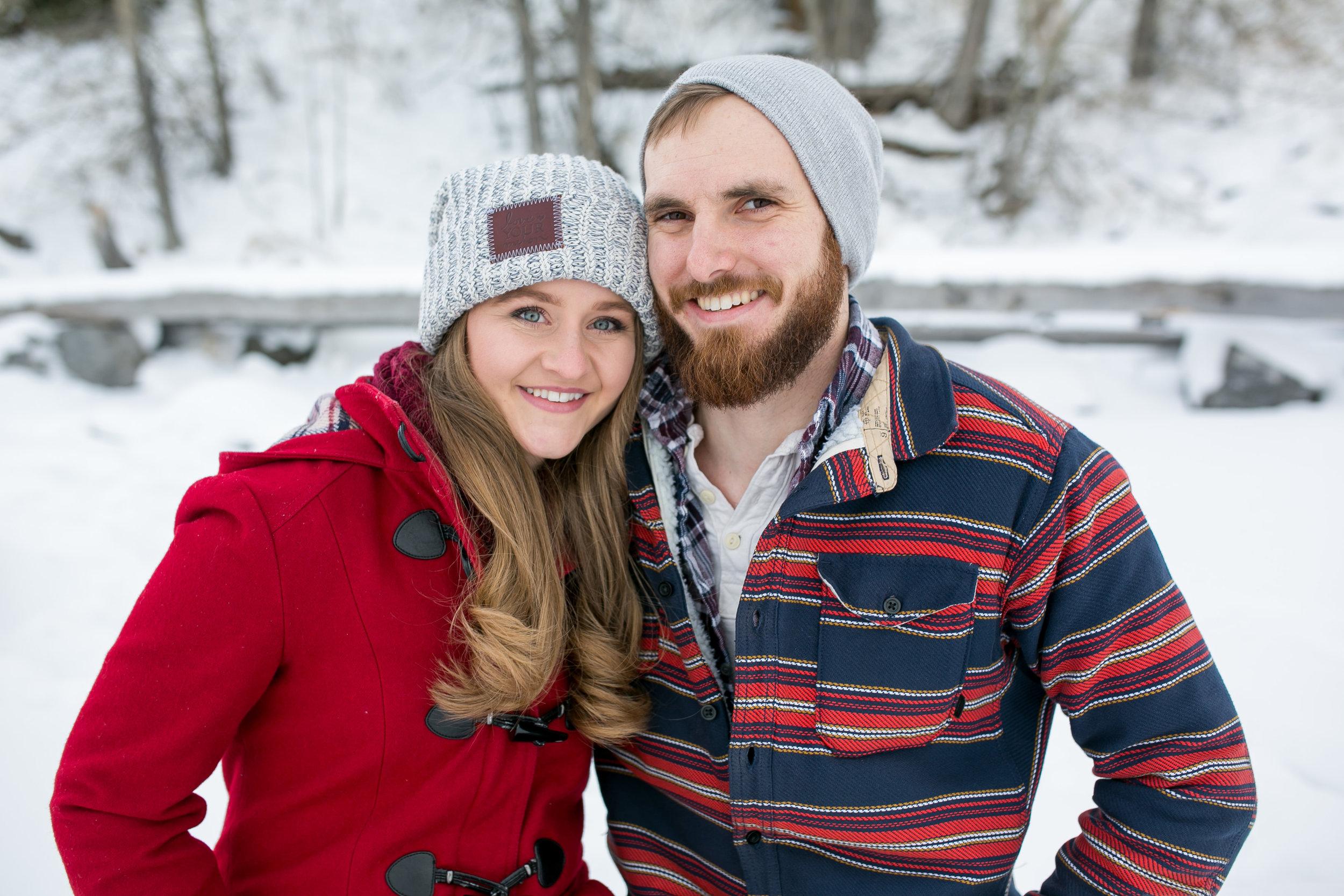 Engagement Photos at Lake MInniwanka in Banff, AB.