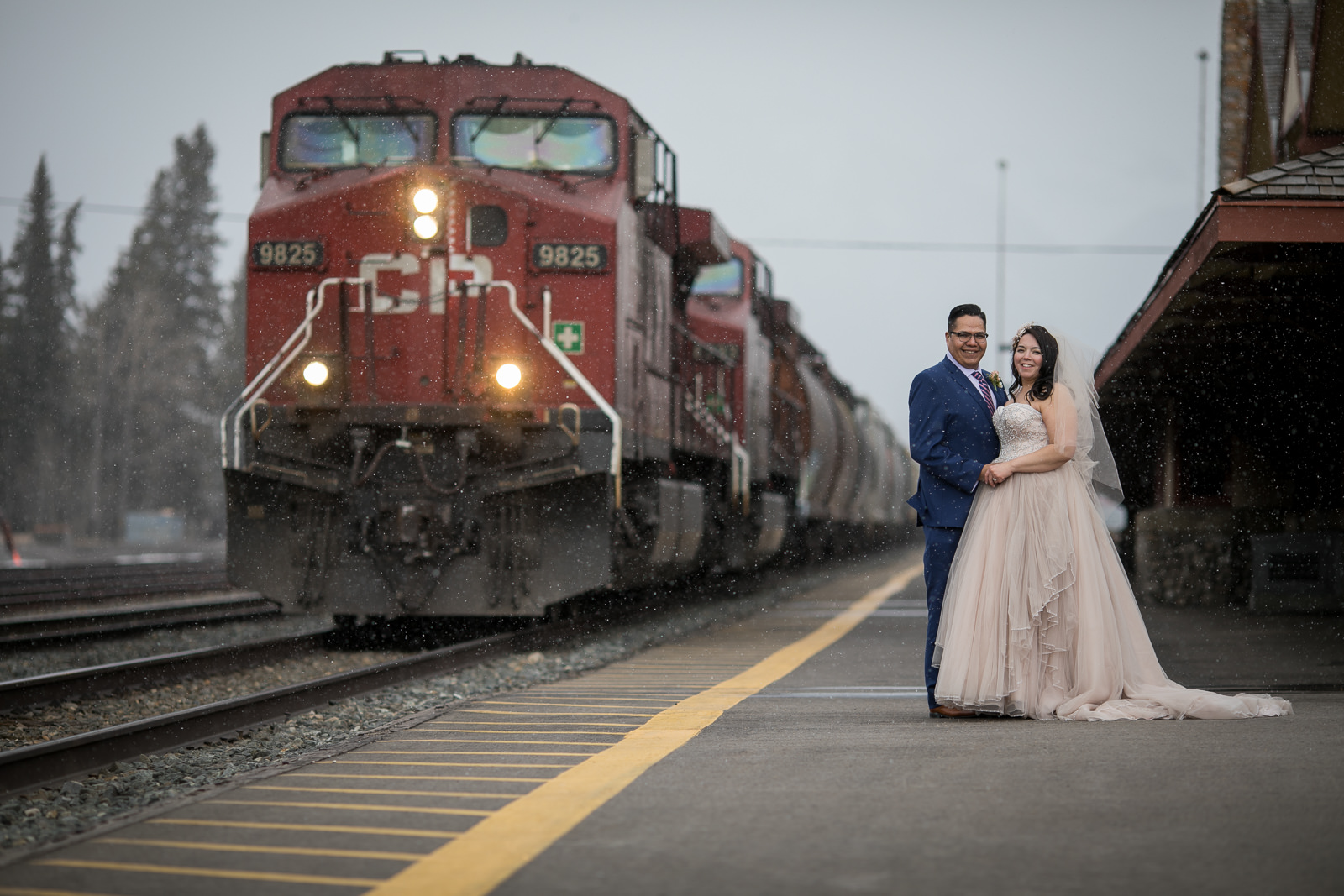 Banff Wedding Photography Train Station