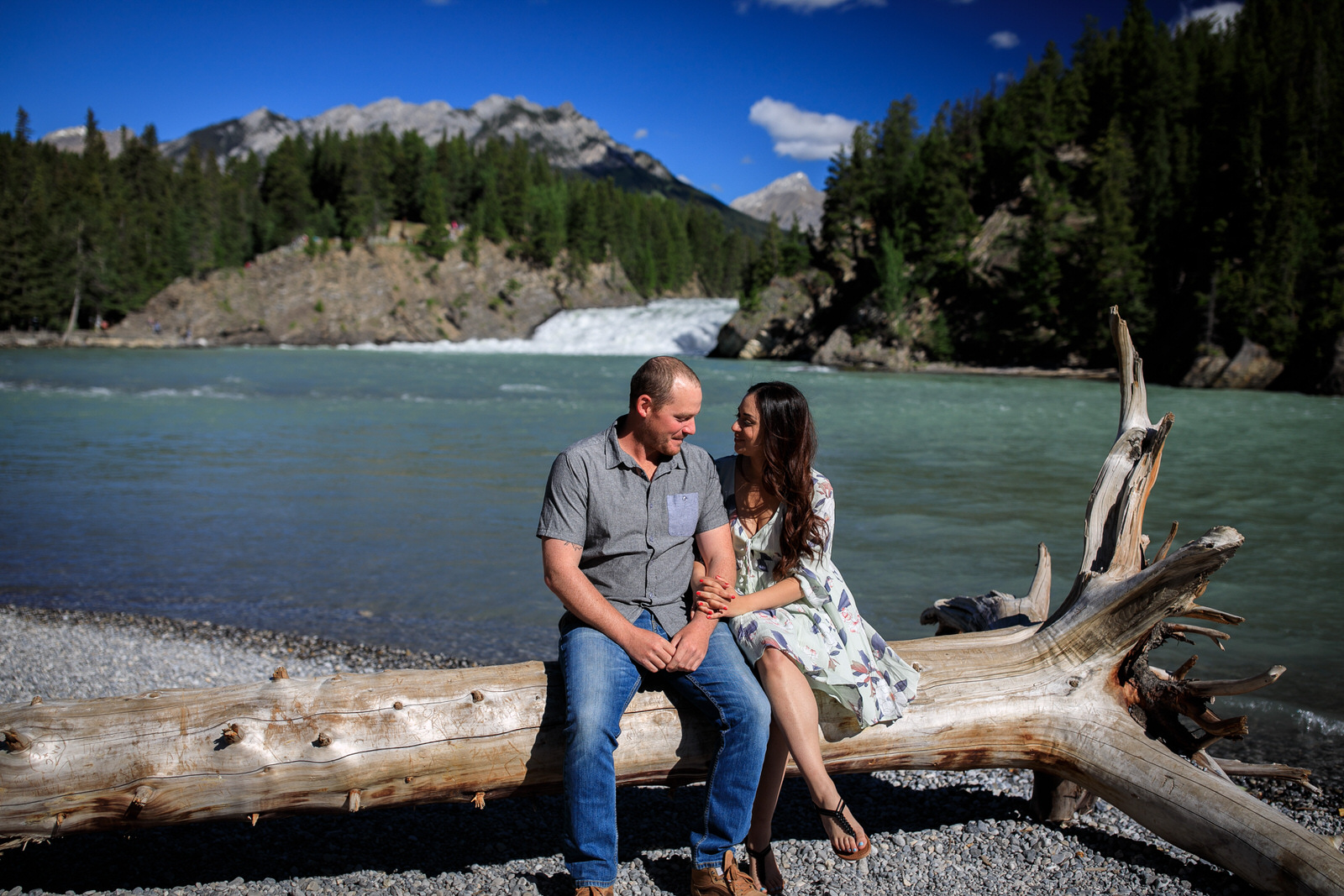 Engagement Photos Bow Falls Banff