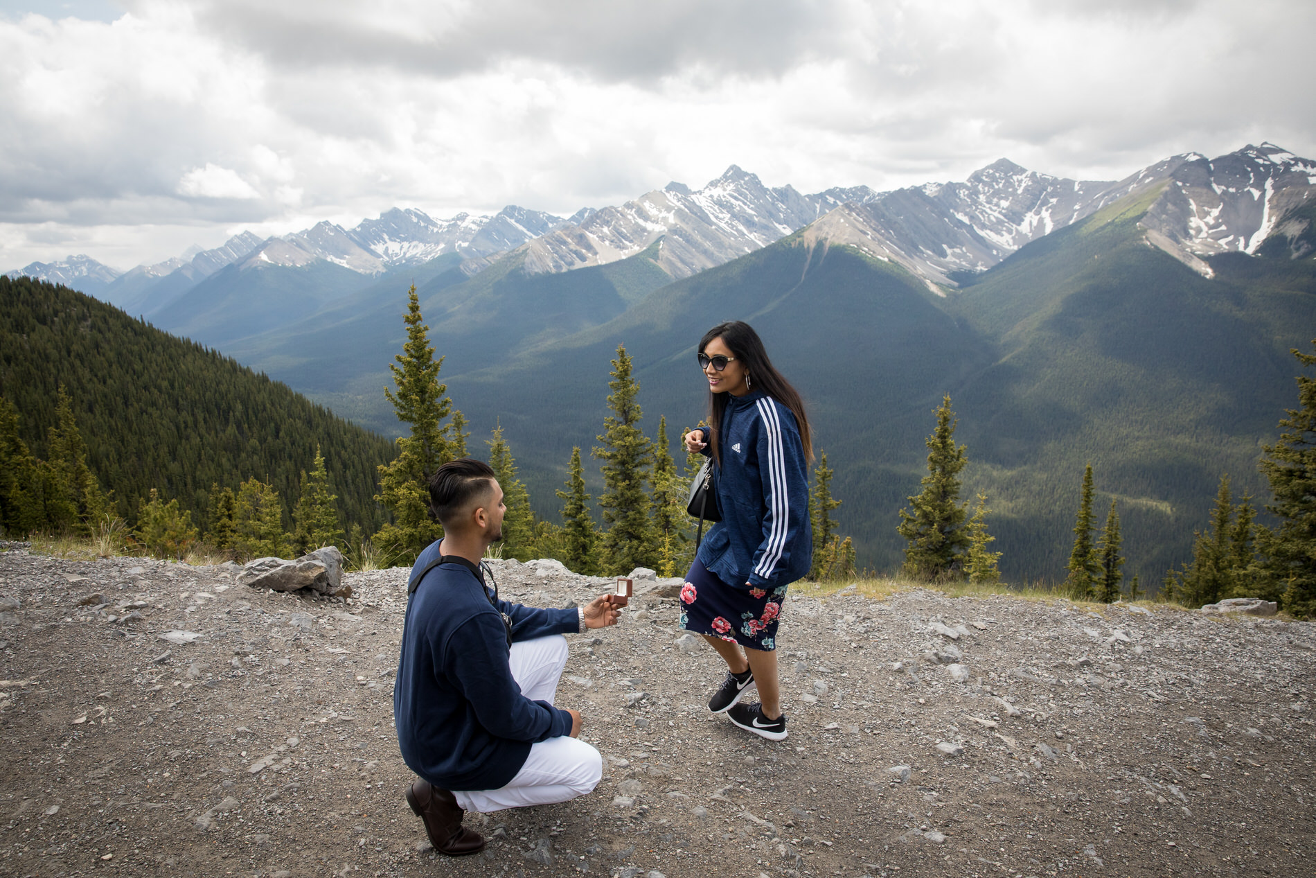 Banff Gondola Surprise Proposal