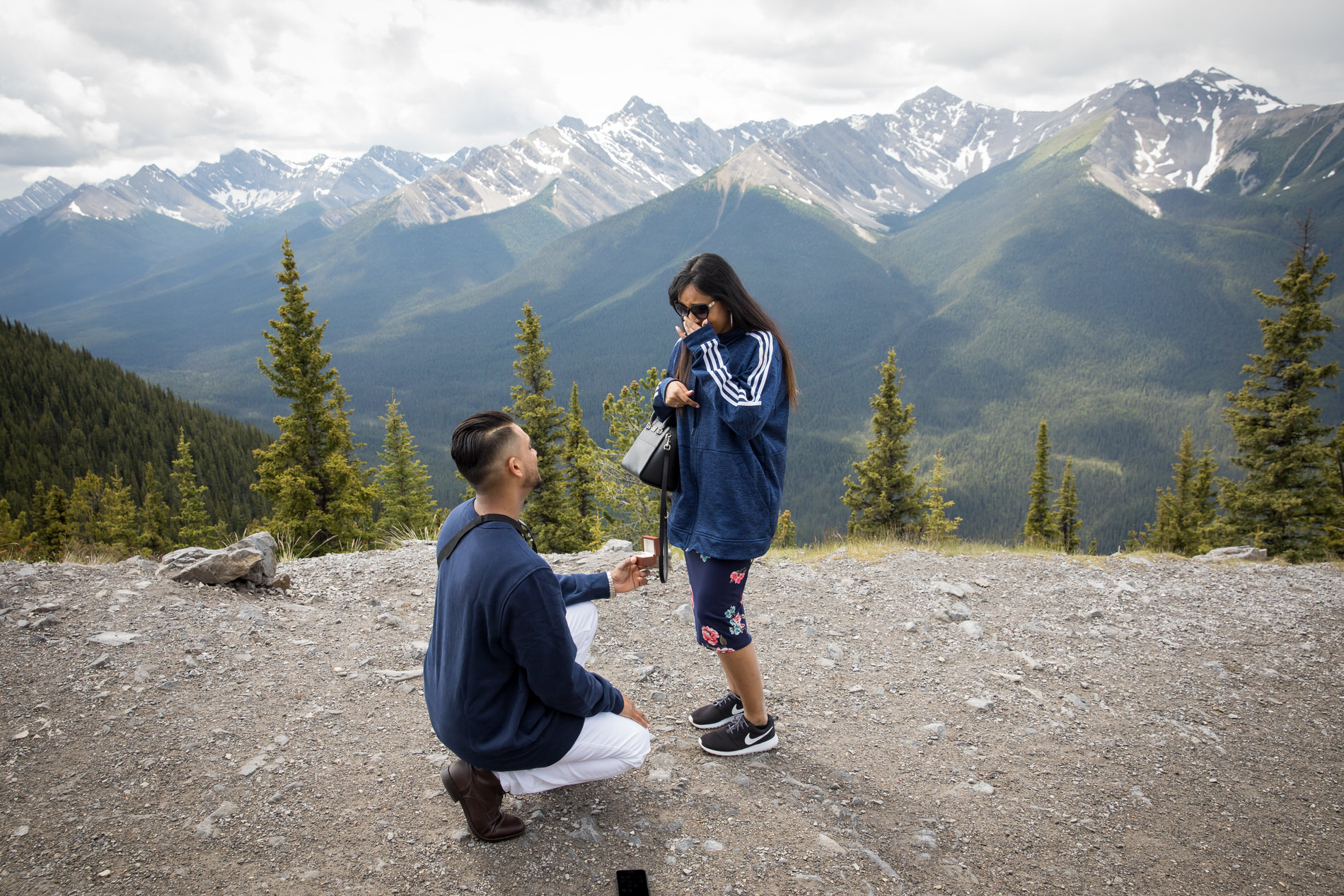 Surprise Proposal Mt Sulphur Banff Gondola